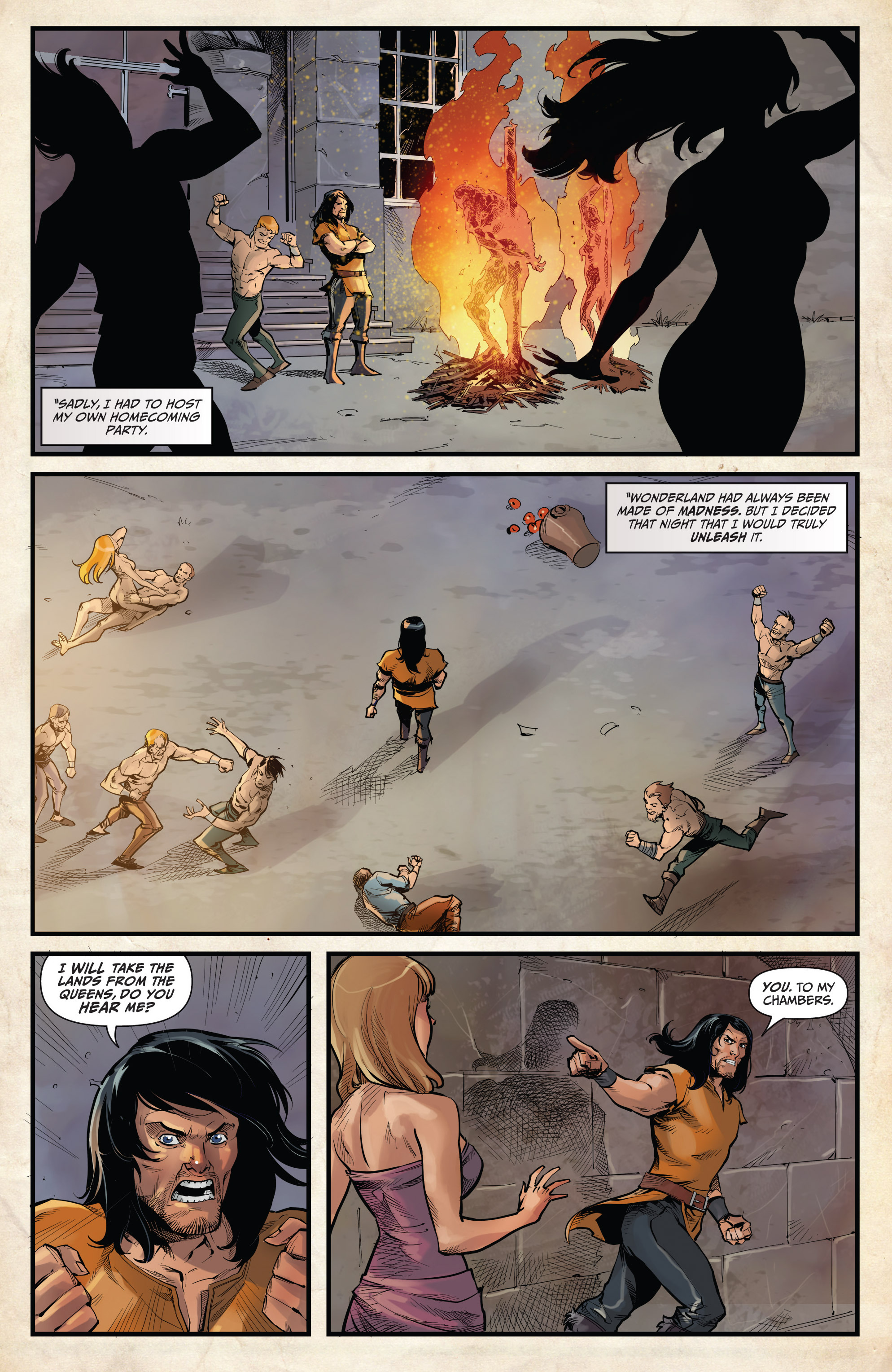 Read online Grimm Fairy Tales vs. Wonderland comic -  Issue #3 - 14