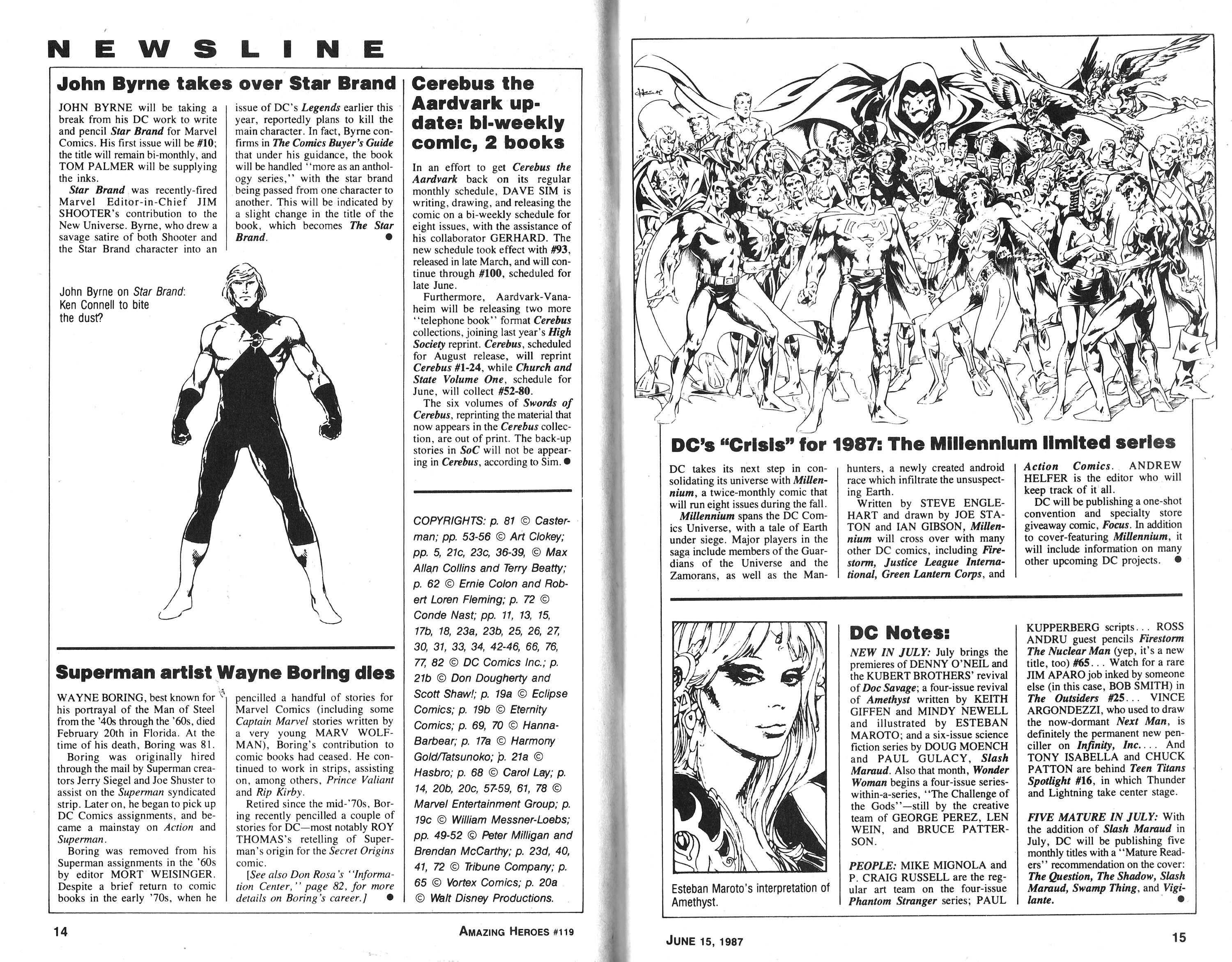 Read online Amazing Heroes comic -  Issue #119 - 8