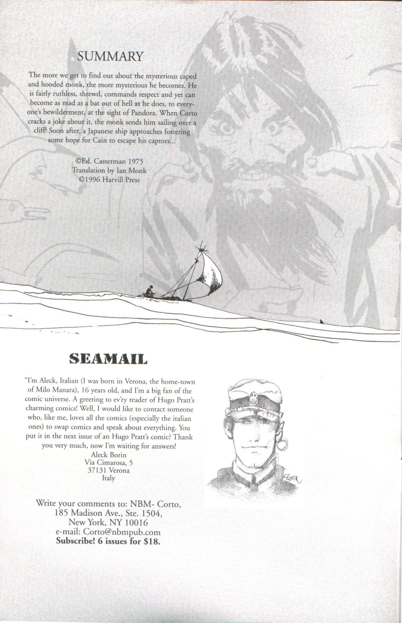 Read online Corto Maltese: Ballad of the Salt Sea comic -  Issue #5 - 2