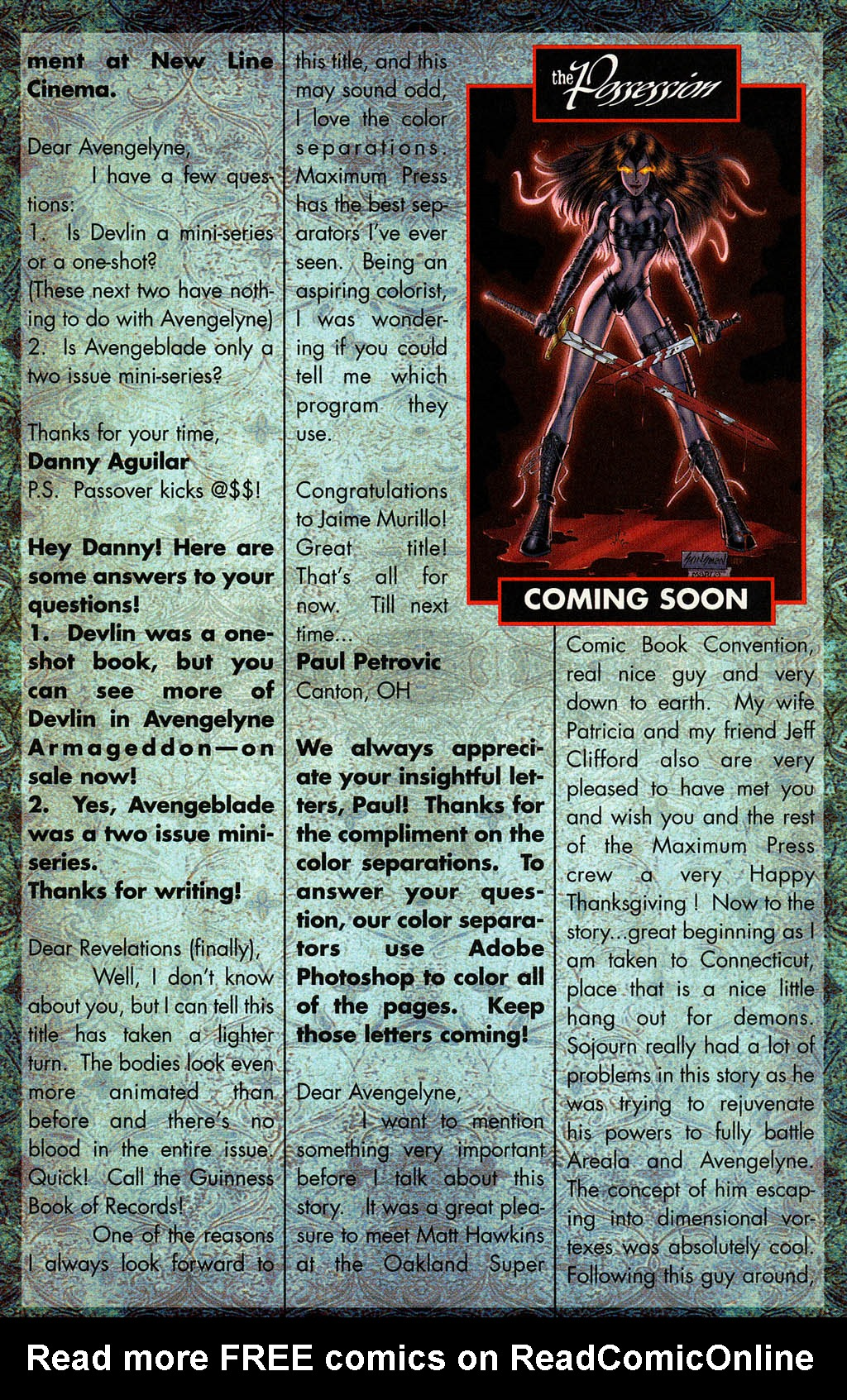 Read online Avengelyne (1996) comic -  Issue #8 - 23