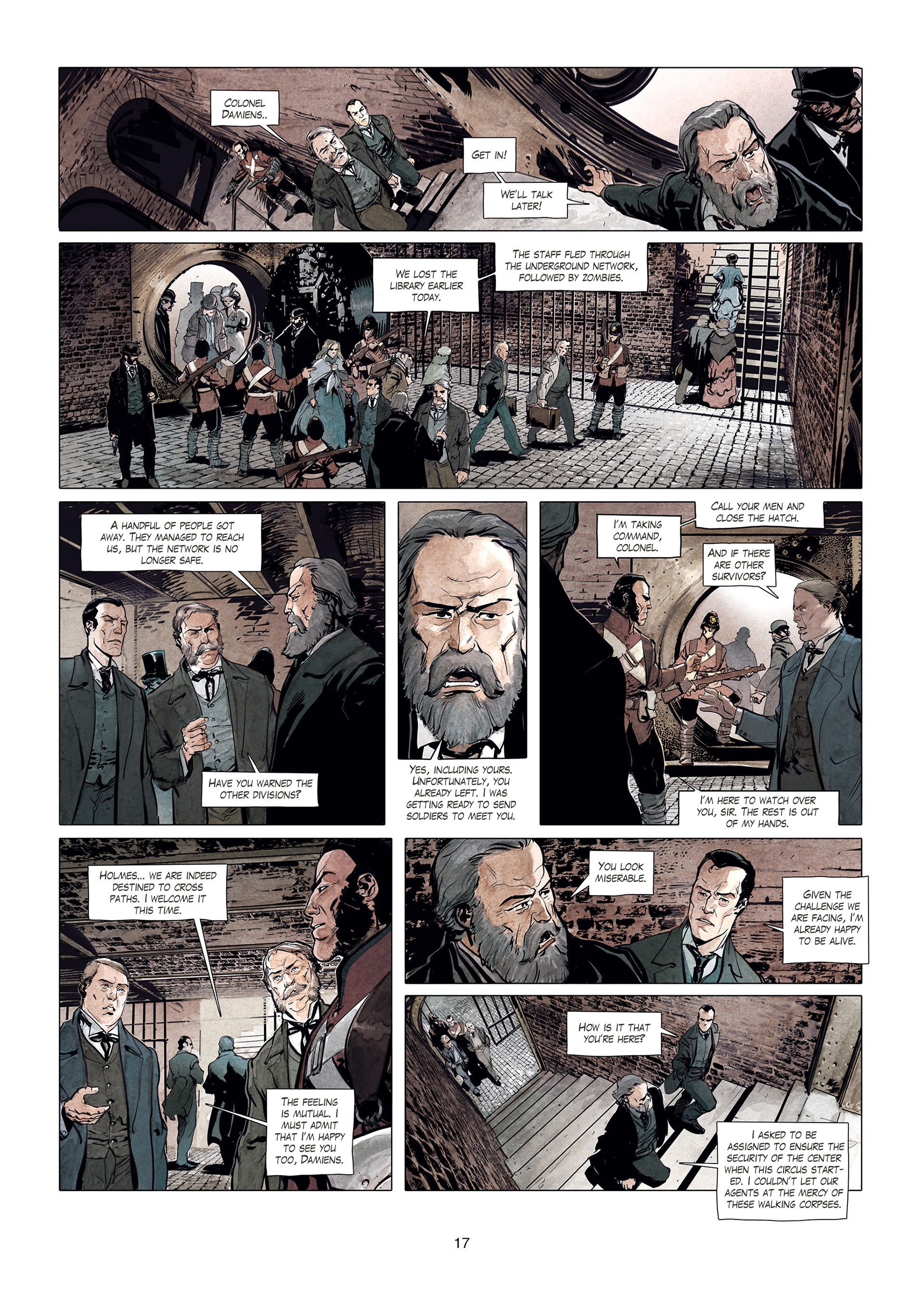 Read online Sherlock Holmes Society Tome 4 : Contamination comic -  Issue # Full - 17