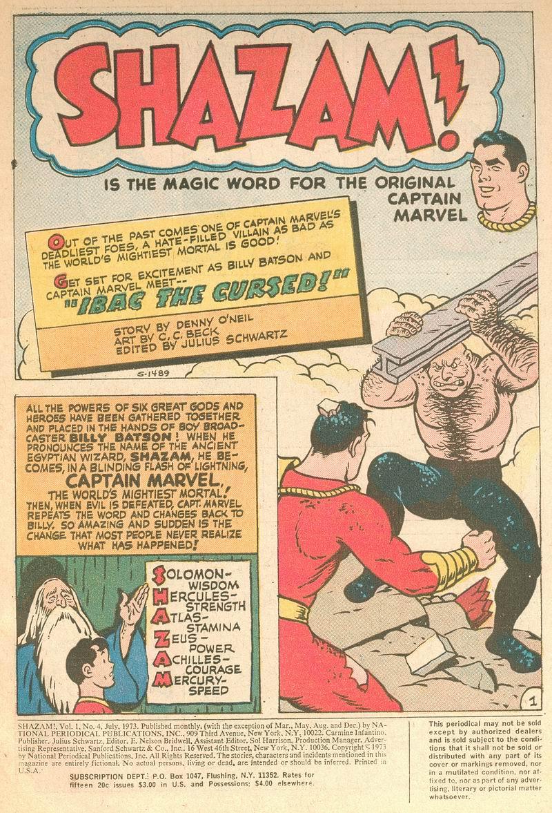 Read online Shazam! (1973) comic -  Issue #4 - 2