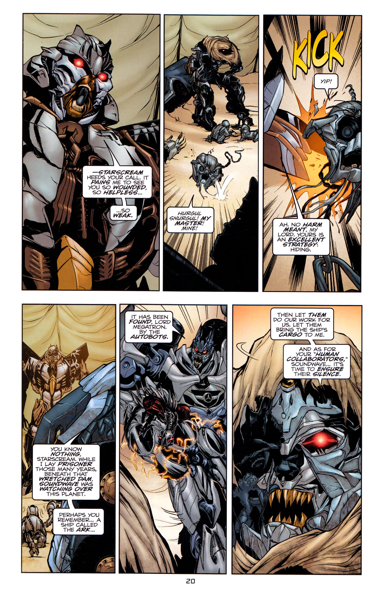 Read online Transformers: Dark of the Moon Movie Adaptation comic -  Issue #1 - 22