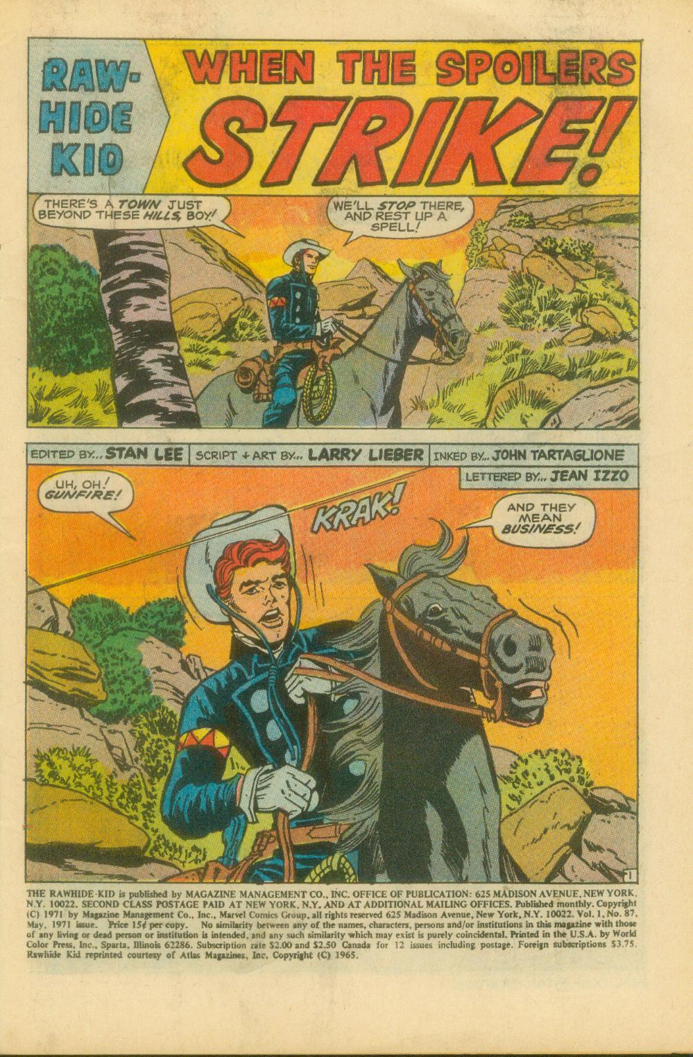 The Rawhide Kid (1955) issue 87 - Page 4