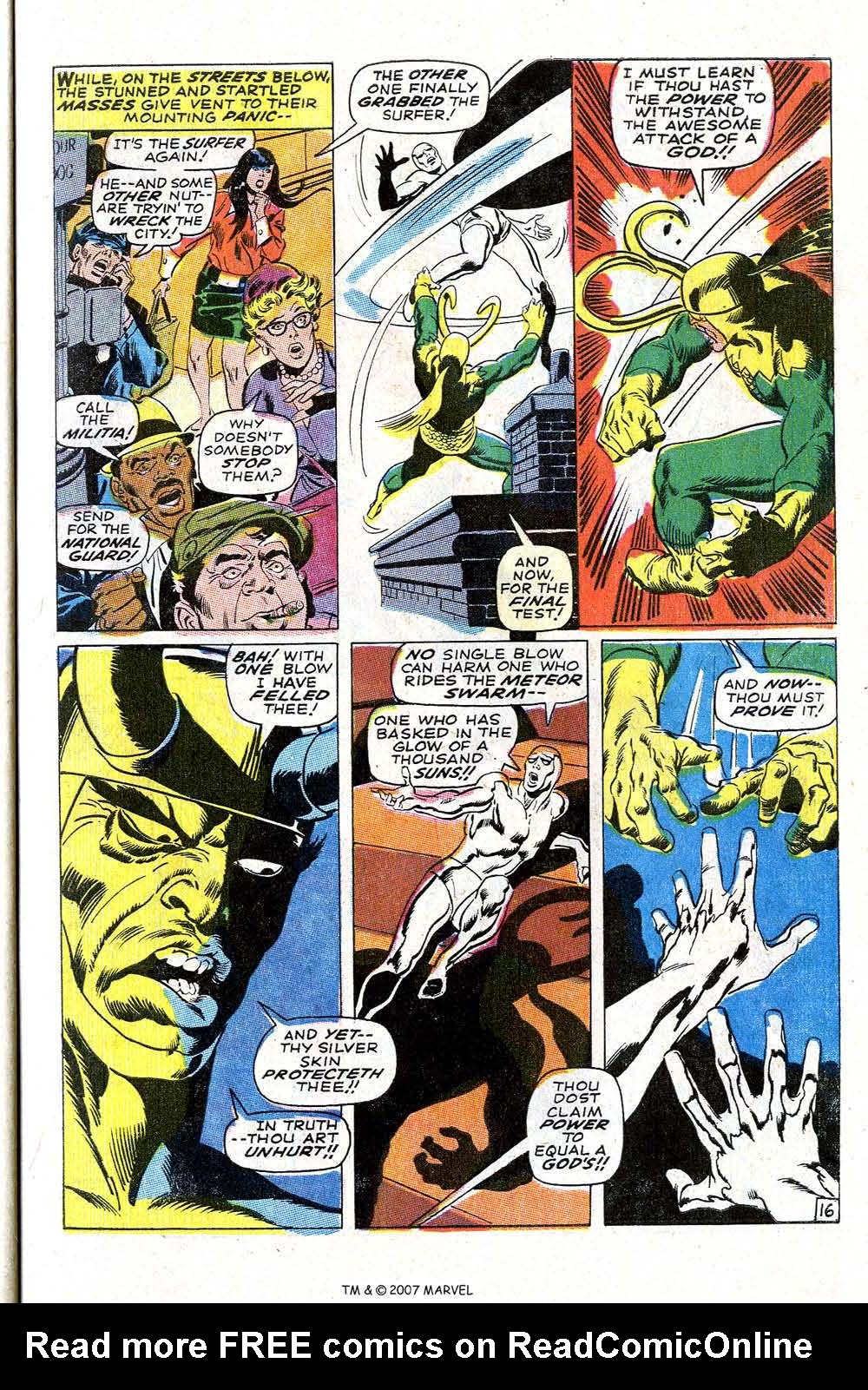 Read online Silver Surfer (1968) comic -  Issue #4 - 21