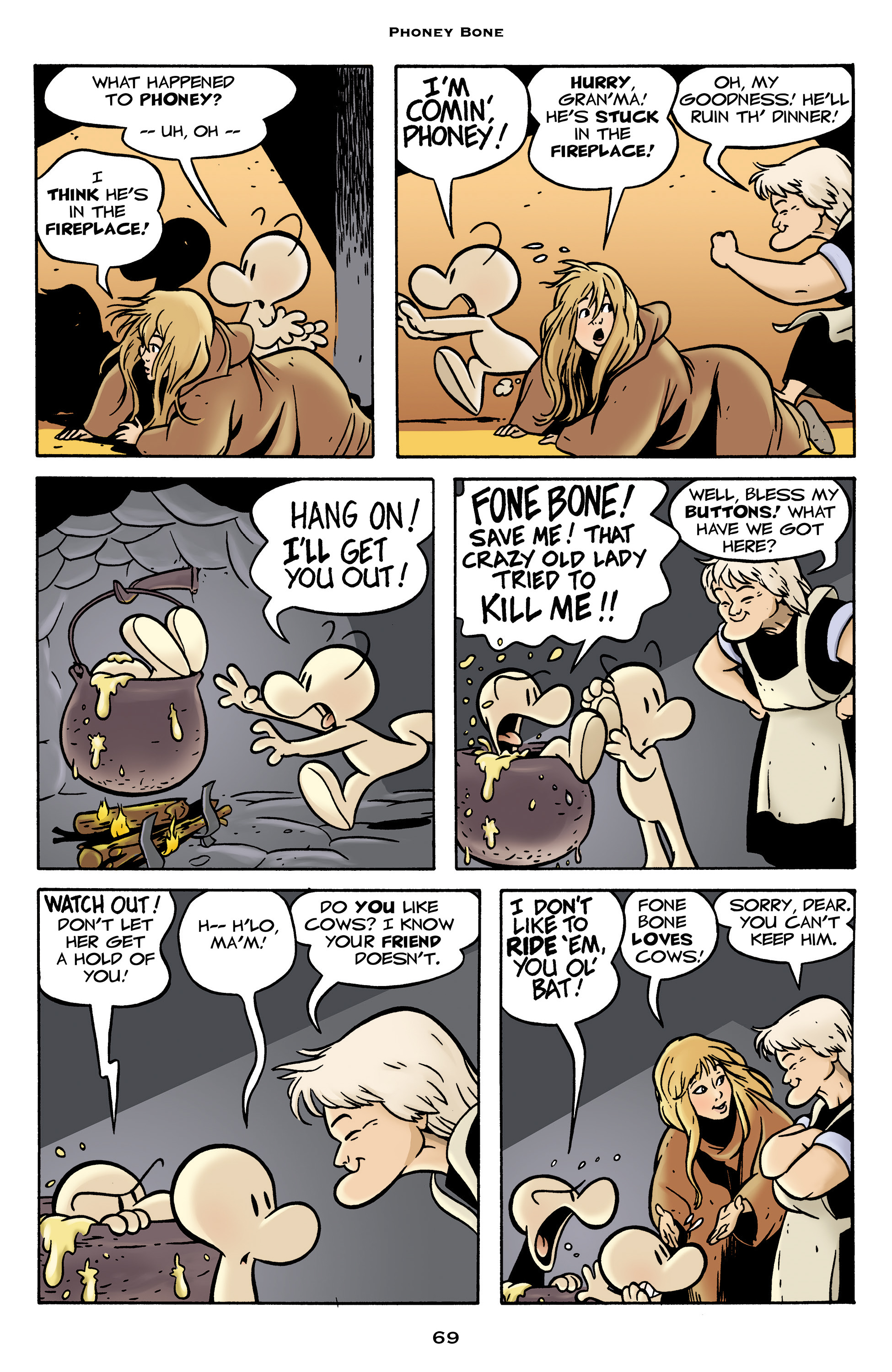 Read online Bone: Out From Boneville comic -  Issue # TPB - 69