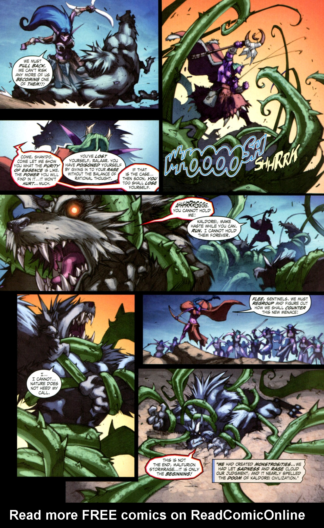 Read online World of Warcraft: Curse of the Worgen comic -  Issue #3 - 23