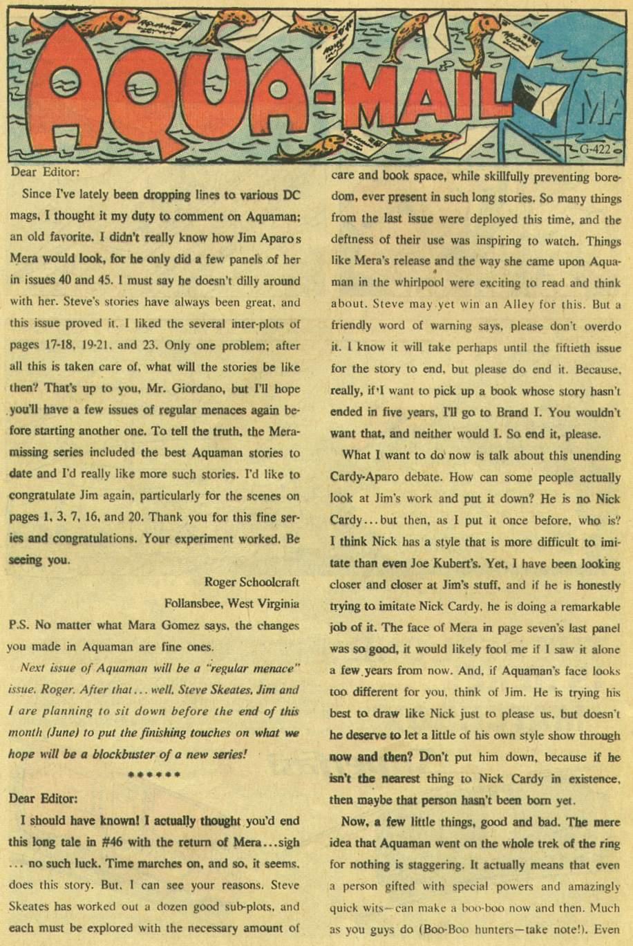 Read online Aquaman (1962) comic -  Issue #48 - 32
