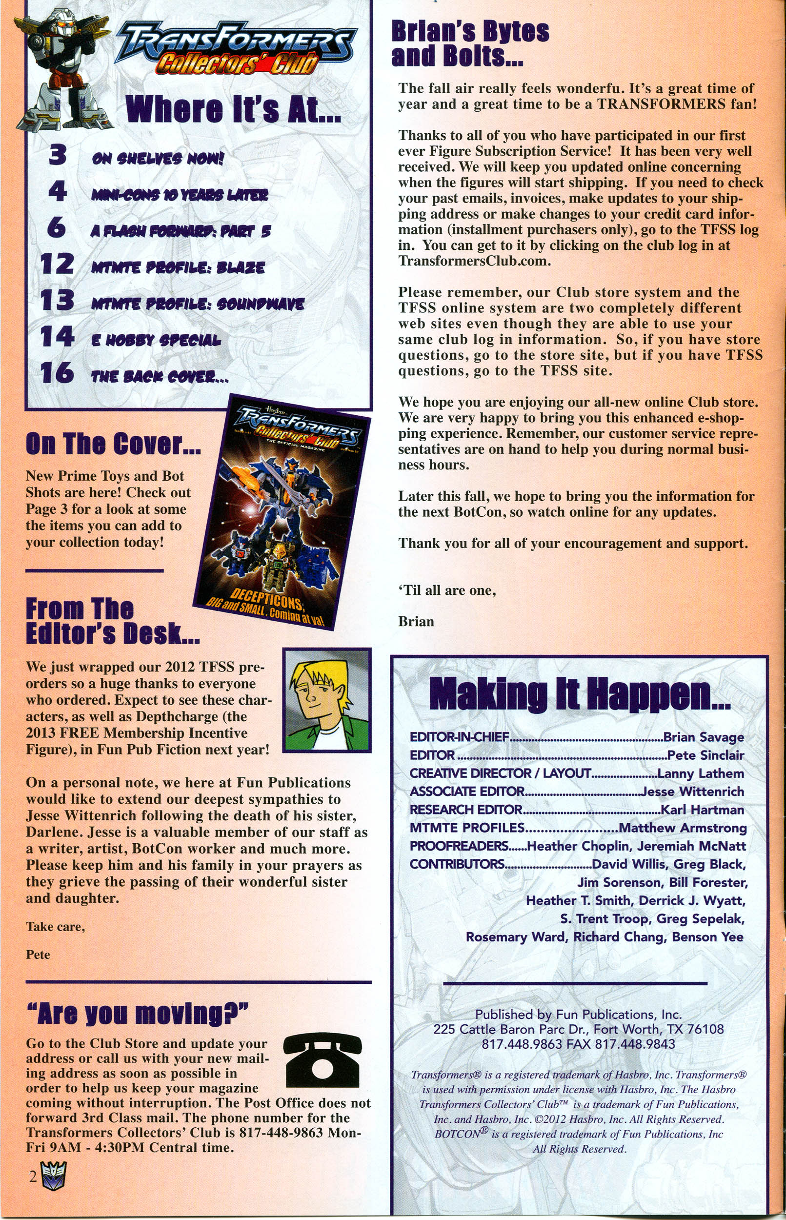 Read online Transformers: Collectors' Club comic -  Issue #47 - 2