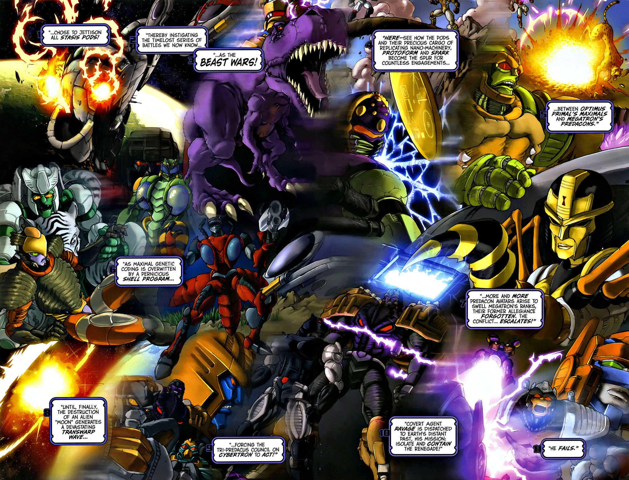 Read online Transformers, Beast Wars: The Gathering comic -  Issue #1 - 4