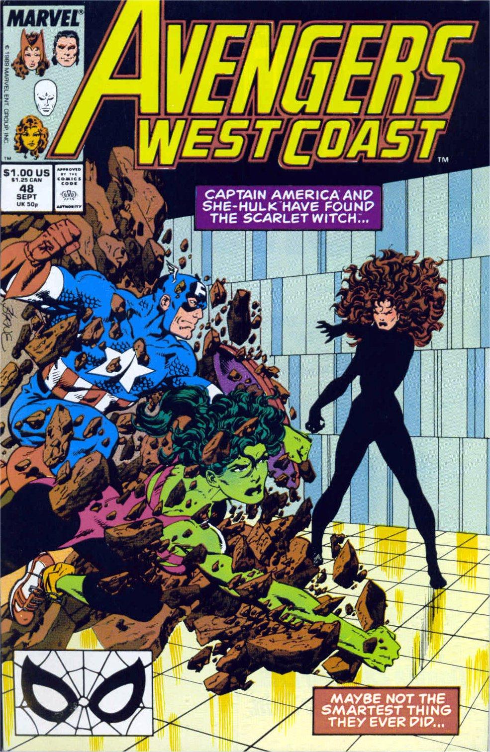 Avengers West Coast (1989) 48 Page 1