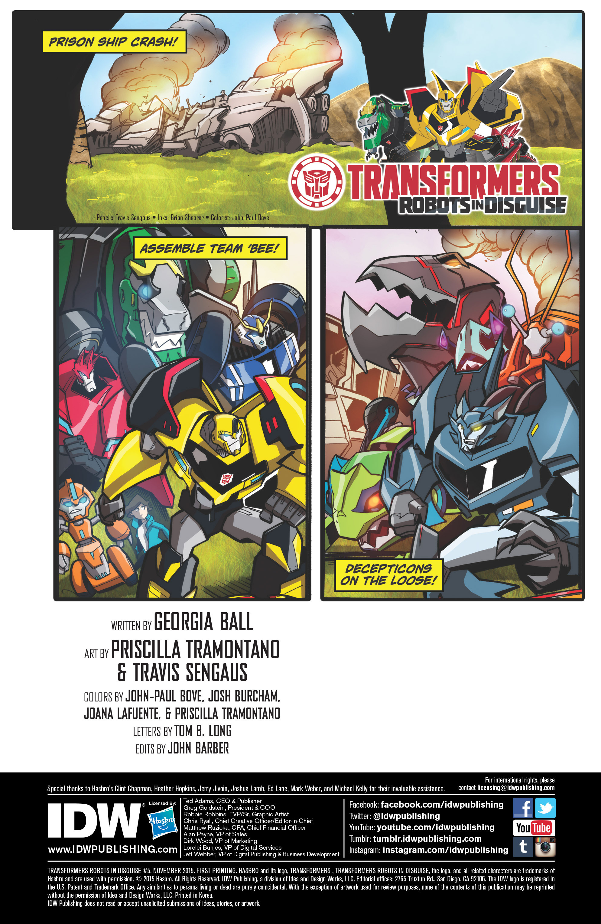Read online Transformers: Robots In Disguise (2015) comic -  Issue #5 - 2