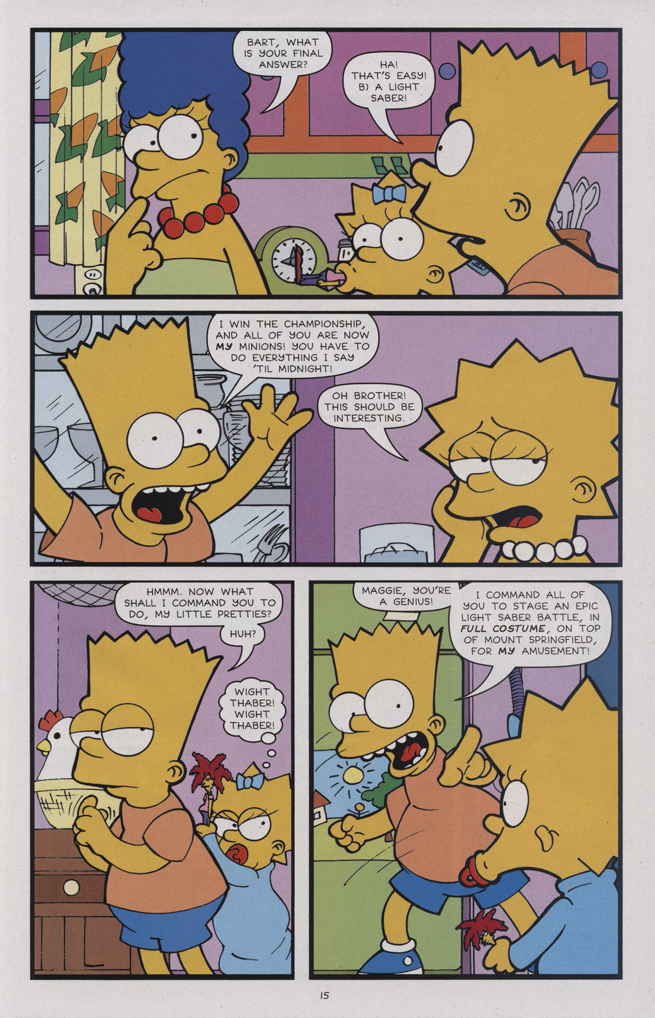 Read online Treehouse of Horror comic -  Issue #17 - 18