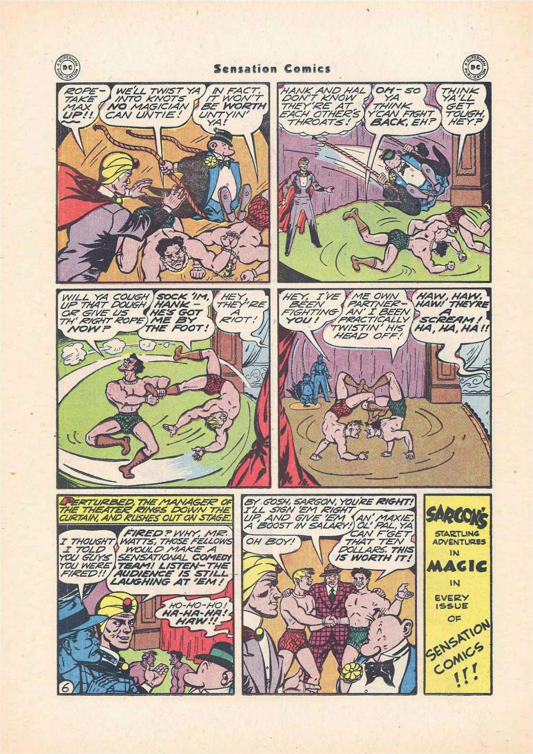 Read online Sensation (Mystery) Comics comic -  Issue #55 - 30