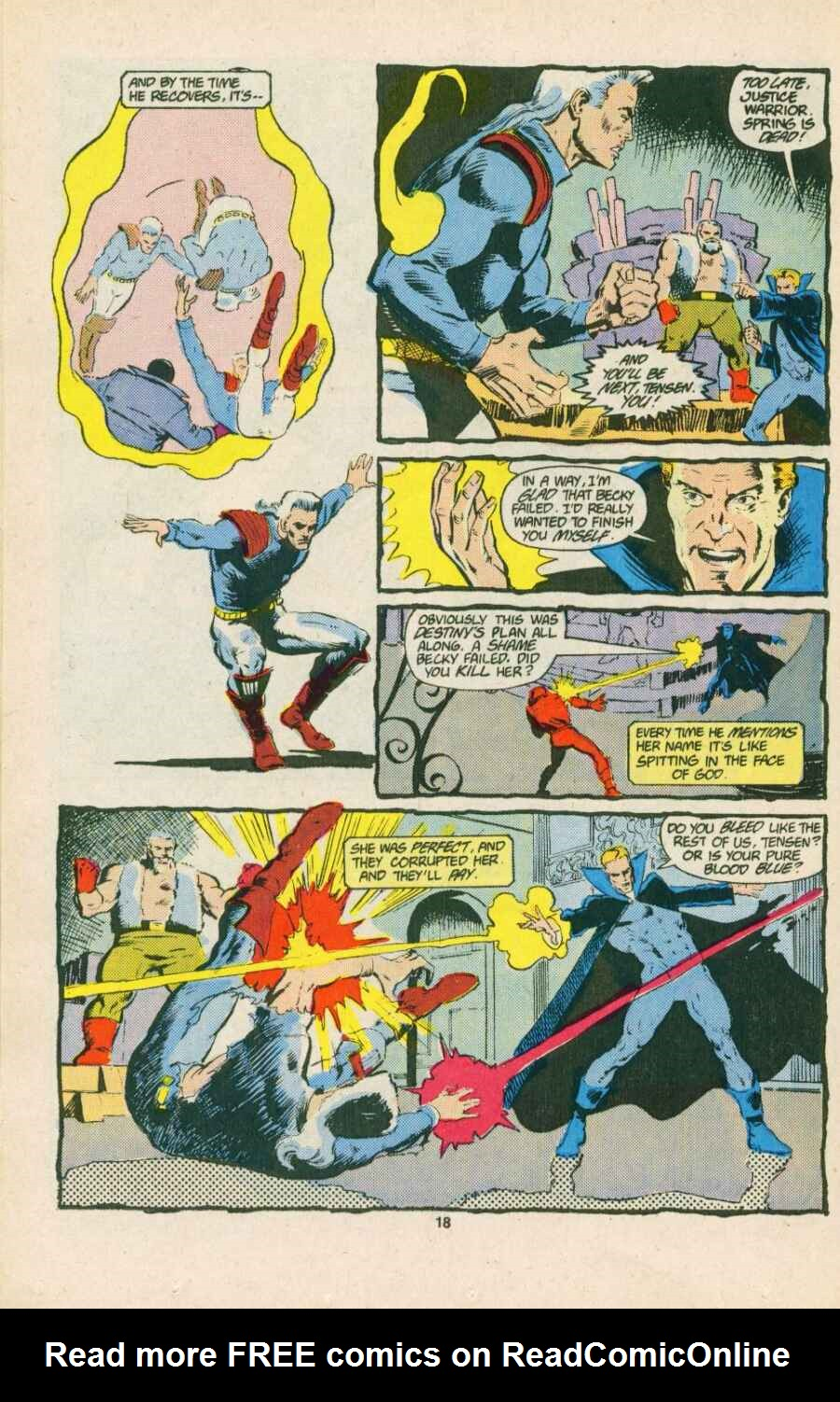 Read online Justice (1986) comic -  Issue #15 - 19