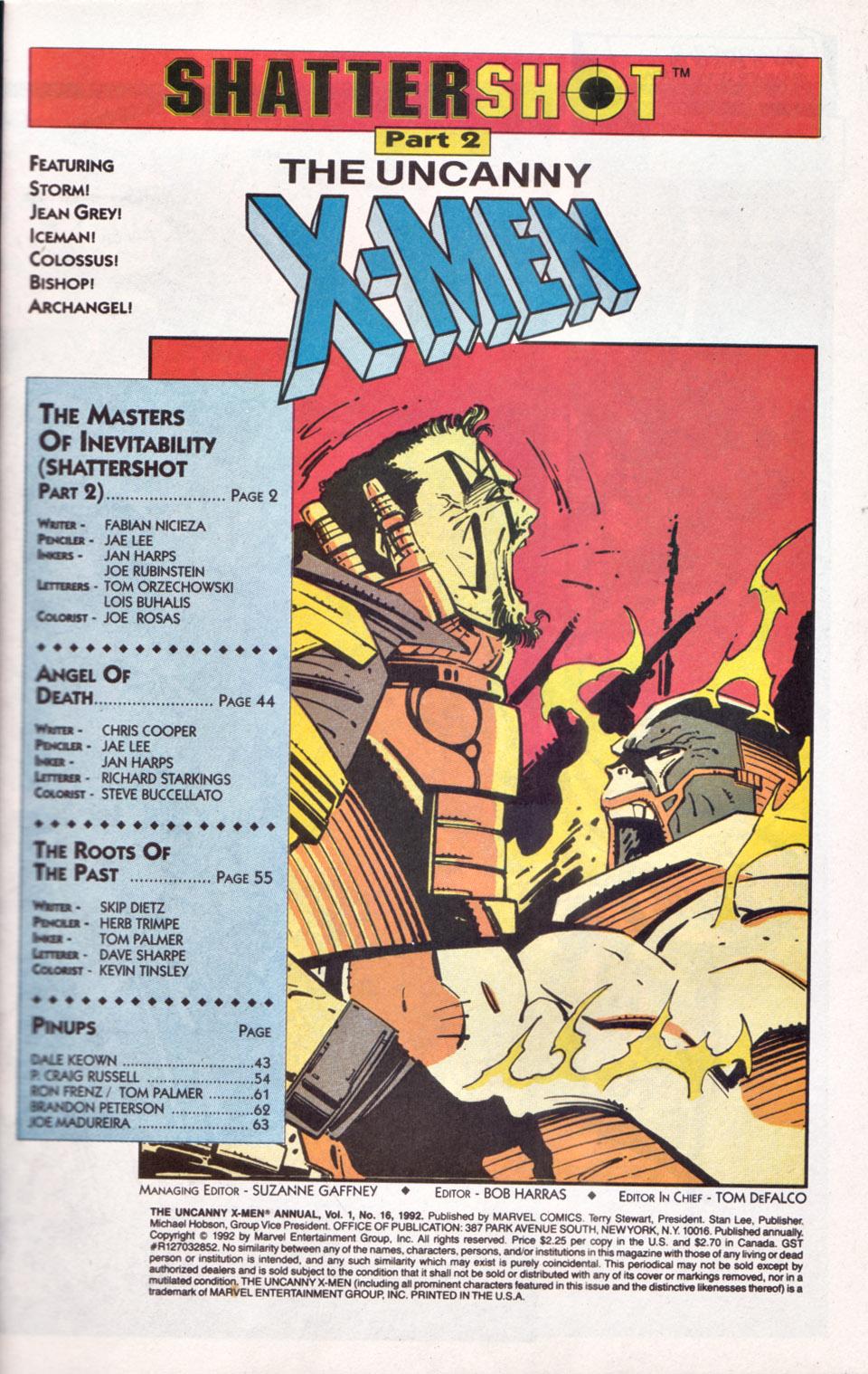 Read online Uncanny X-Men (1963) comic -  Issue # _Annual 16 - 2