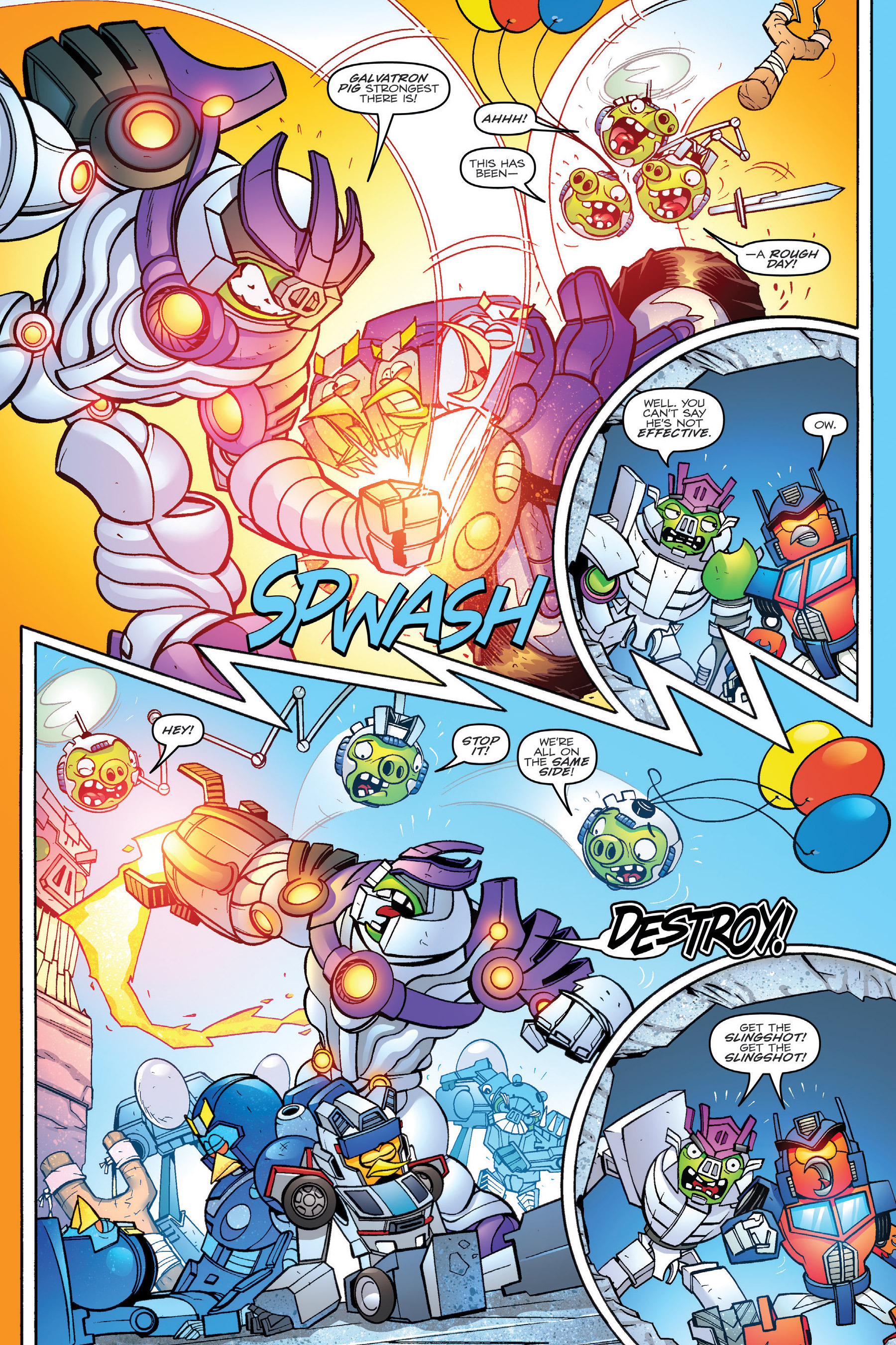 Read online Angry Birds Transformers: Age of Eggstinction comic -  Issue # Full - 82