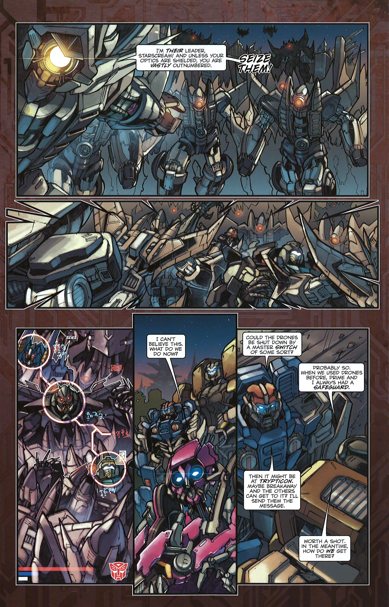 Read online Transformers: The Reign of Starscream comic -  Issue #5 - 12