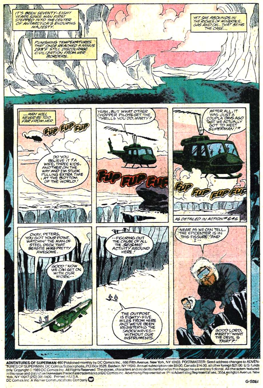 Read online Adventures of Superman (1987) comic -  Issue #460 - 2