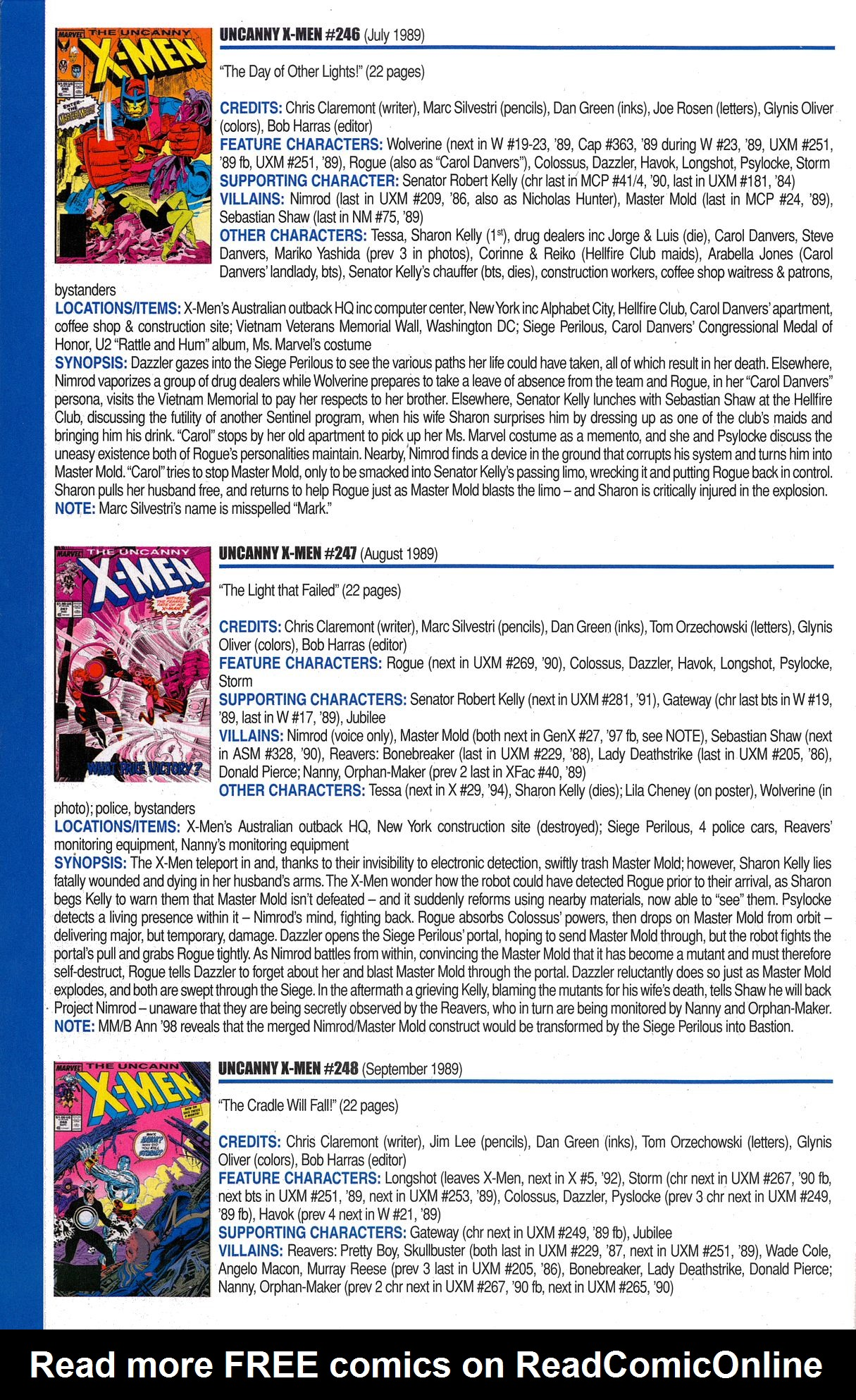 Read online Official Index to the Marvel Universe comic -  Issue #6 - 56
