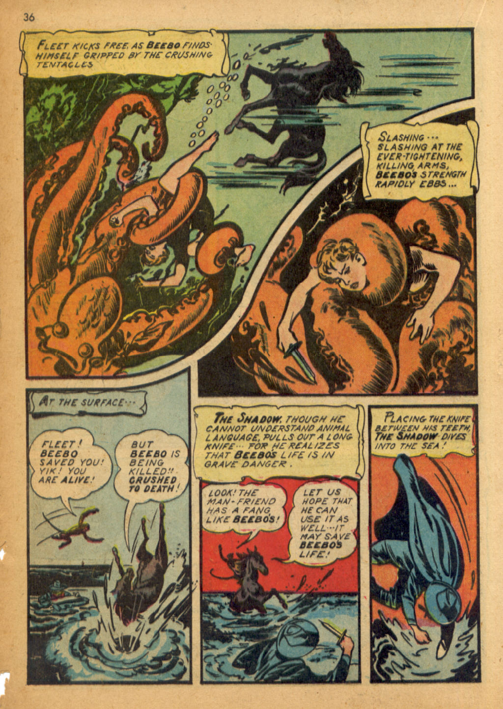 Read online Shadow Comics comic -  Issue #32 - 37