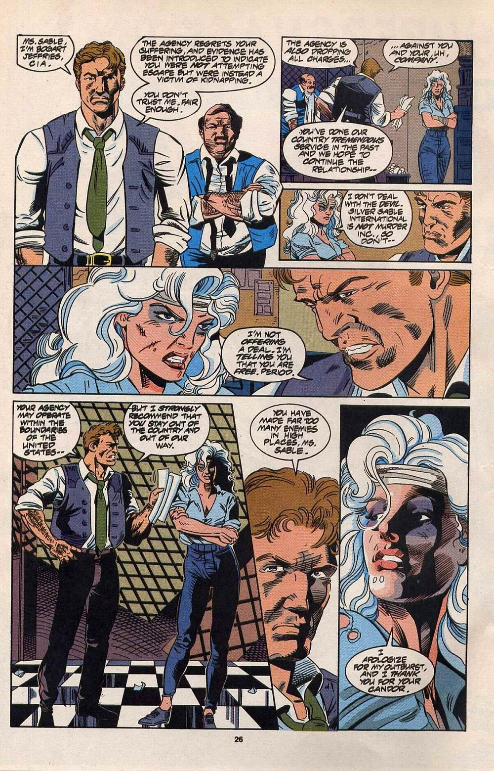 Read online Silver Sable and the Wild Pack comic -  Issue #30 - 20