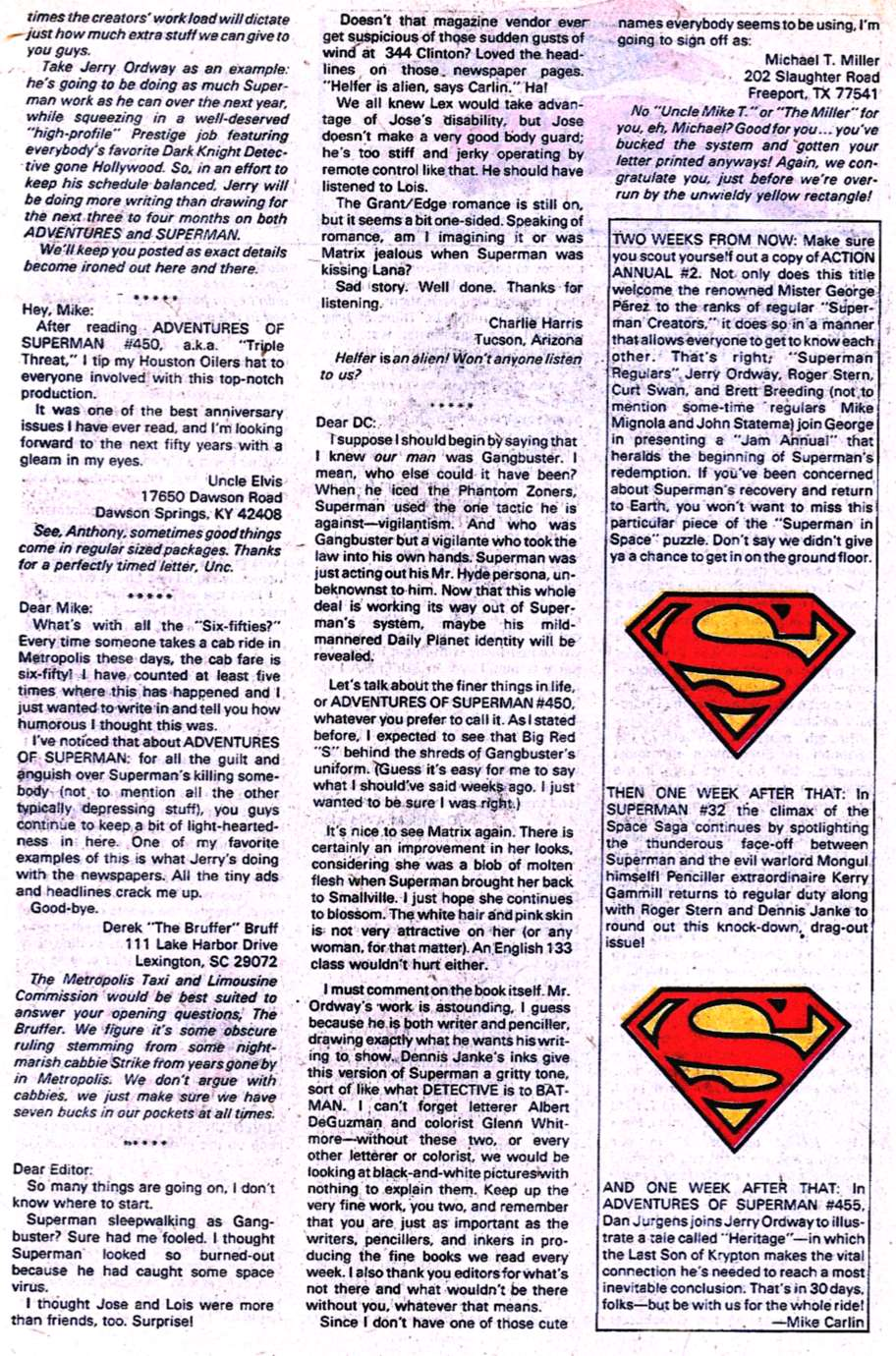 Read online Adventures of Superman (1987) comic -  Issue #454 - 25