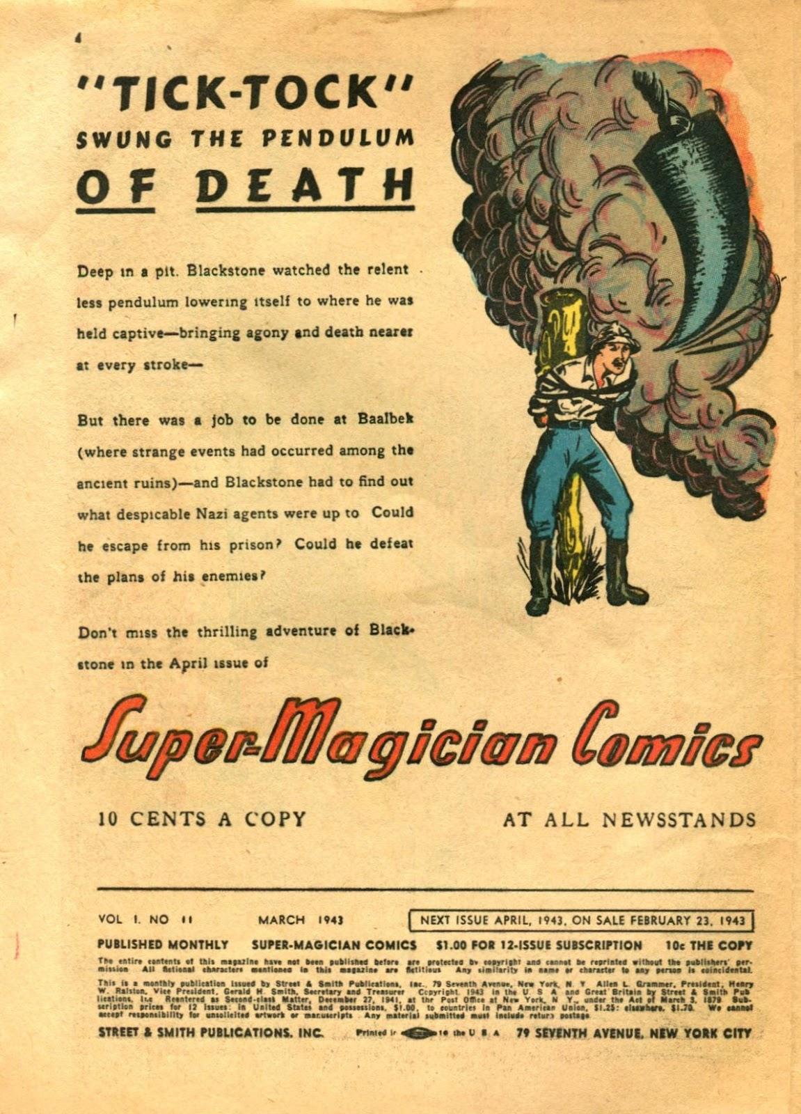 Read online Super-Magician Comics comic -  Issue #11 - 4