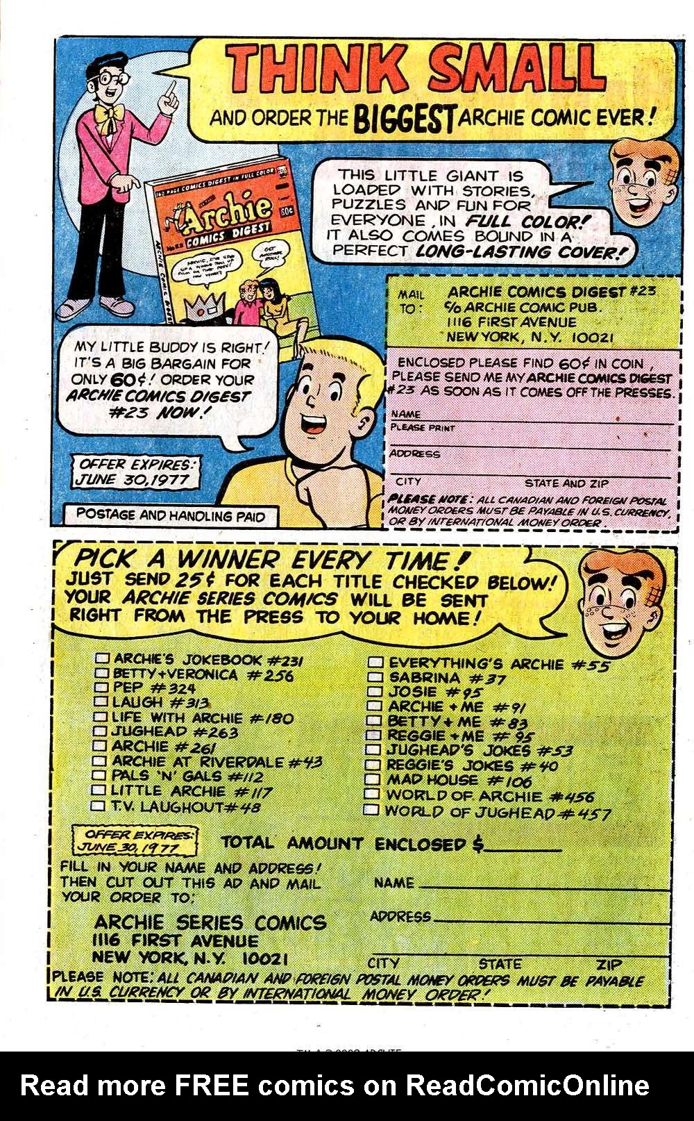 Read online Archie (1960) comic -  Issue #260 - 27