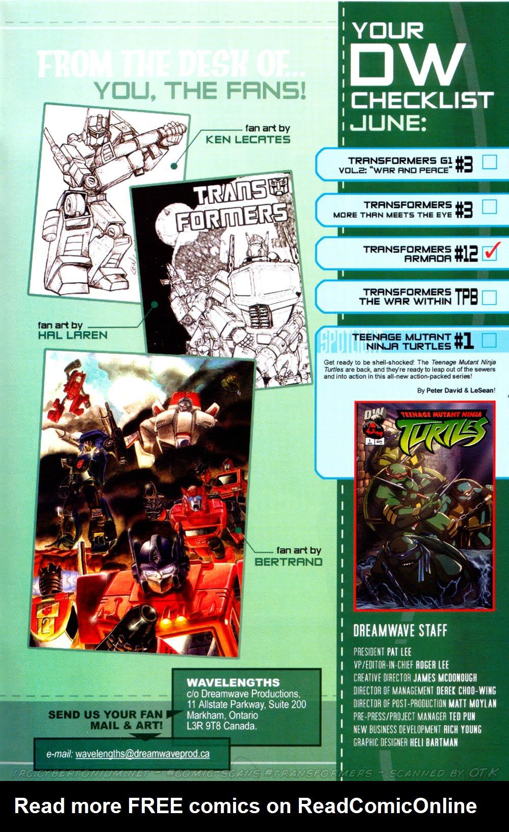 Read online Transformers Armada comic -  Issue #12 - 31