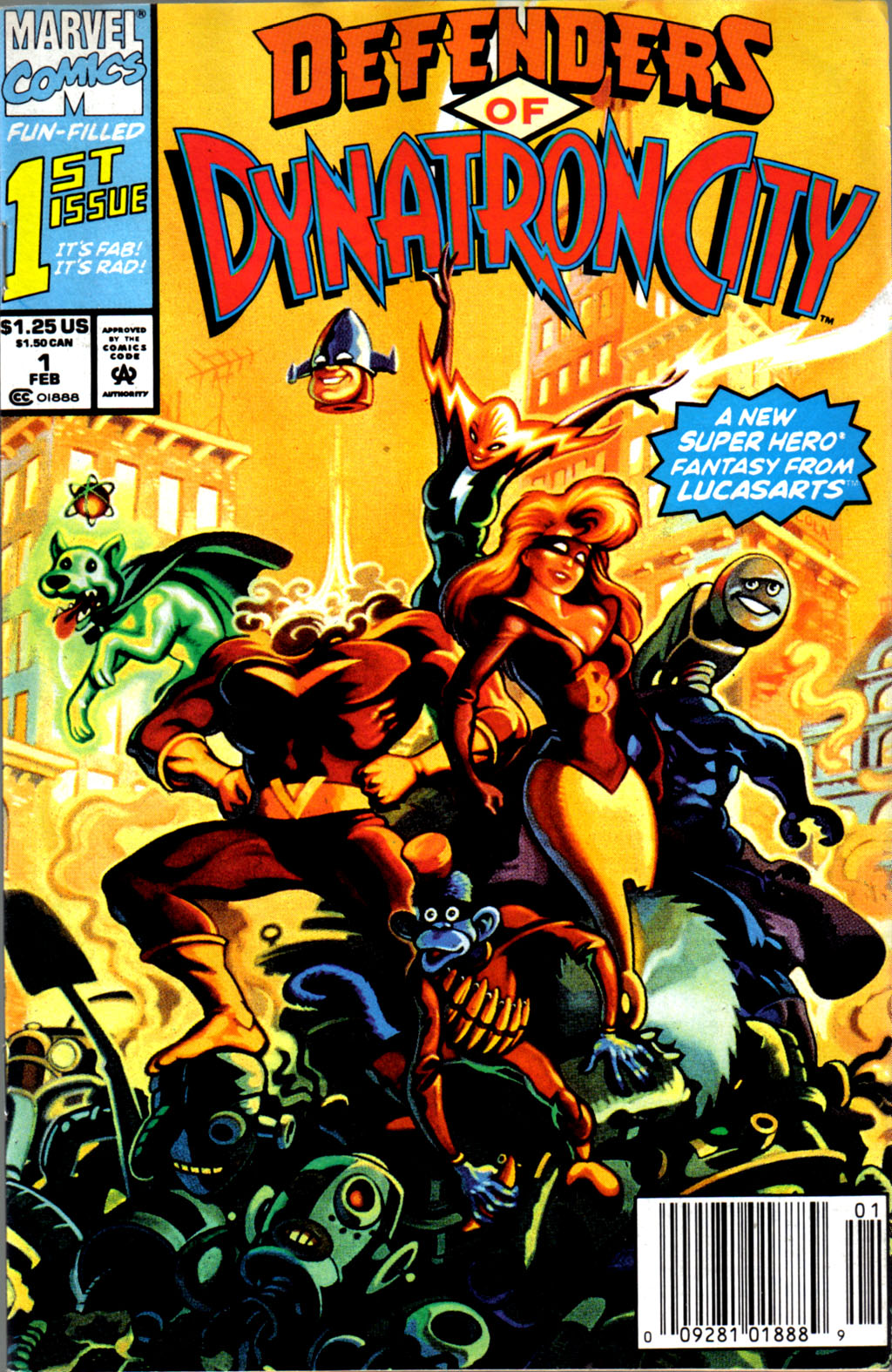 Read online Defenders of Dynatron City comic -  Issue #1 - 1
