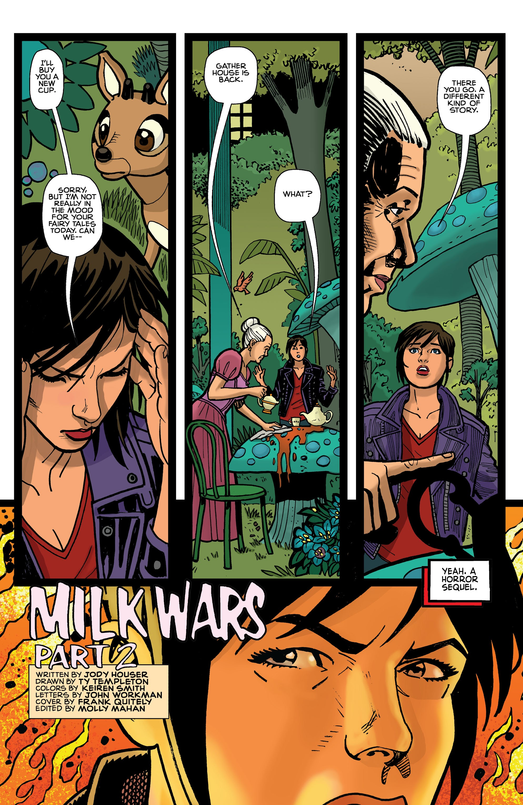 Dc Young Animal Milk Wars Tpb Part 1 Viewcomic Reading Comics Online For Free 2019