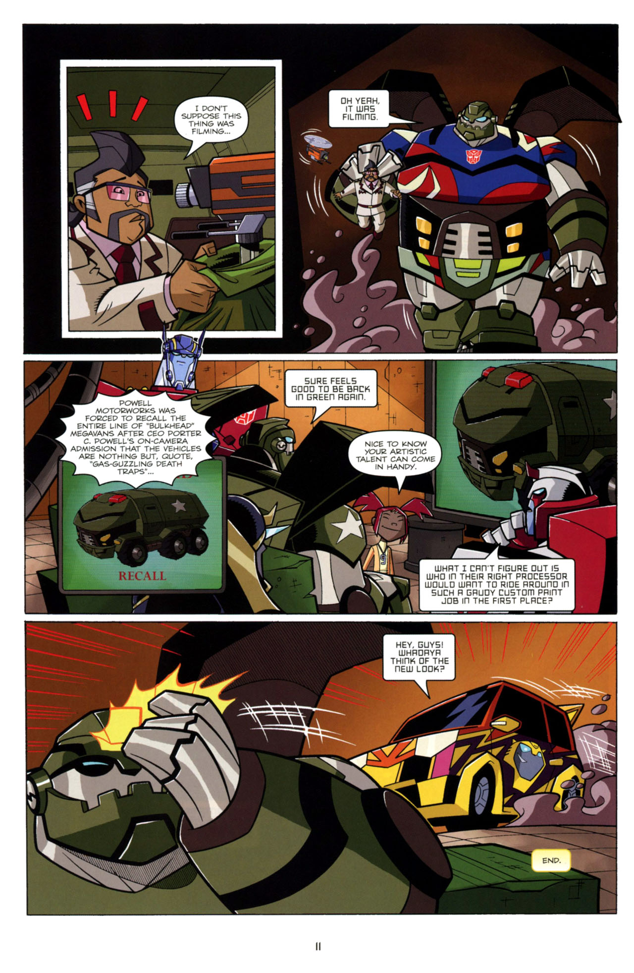 Read online Transformers Animated: The Arrival comic -  Issue #4 - 14