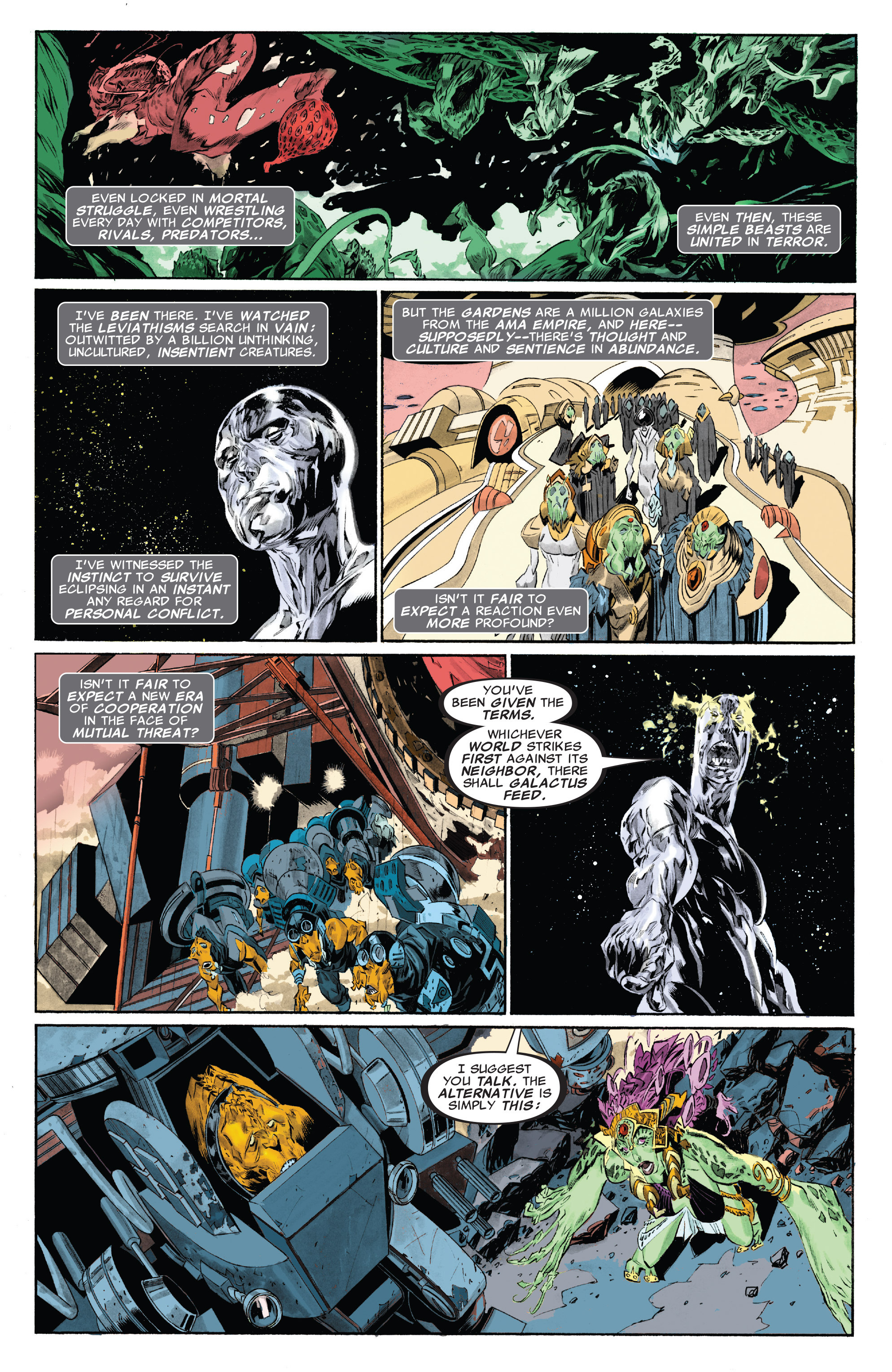 Read online Silver Surfer: In Thy Name comic -  Issue #4 - 4