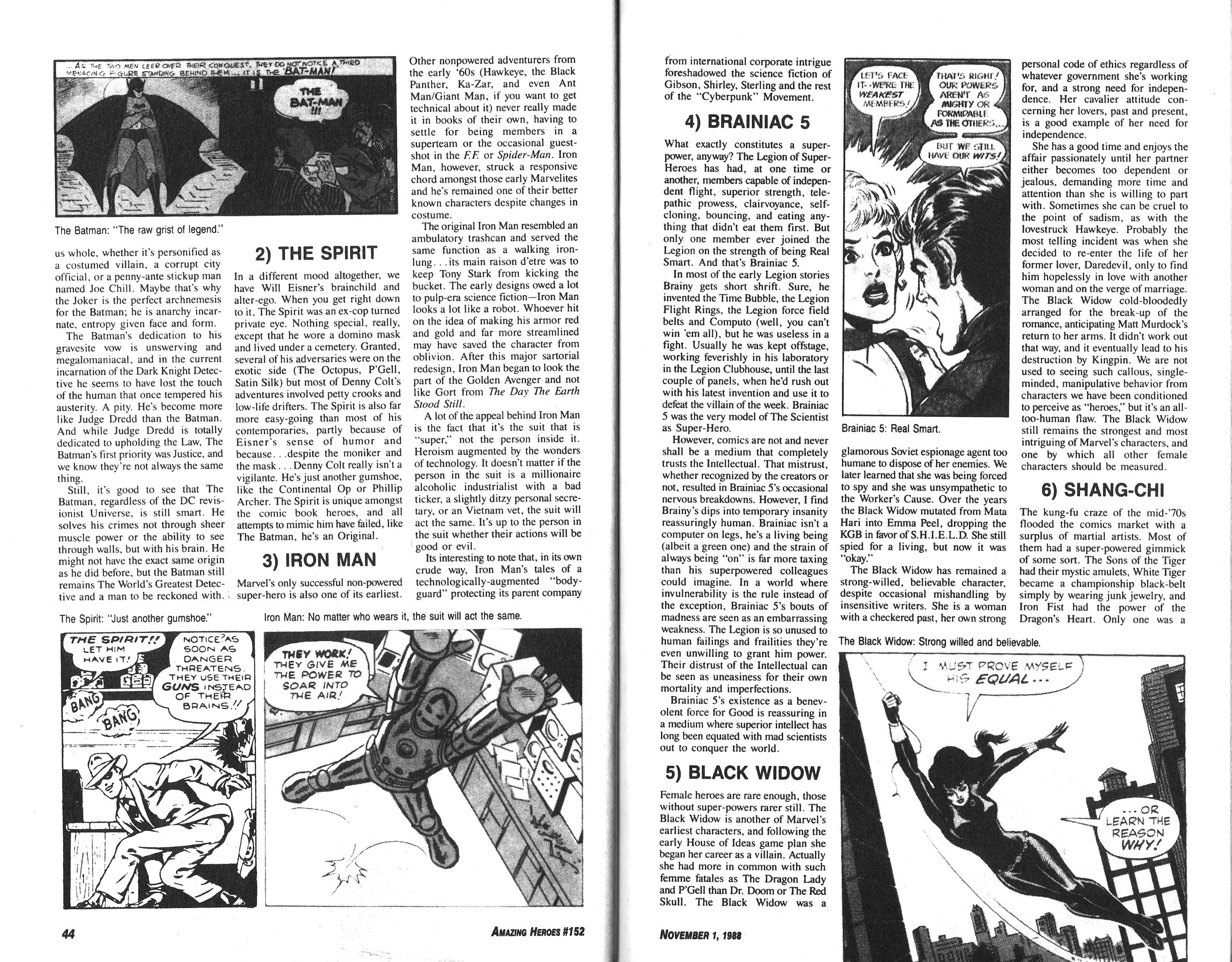 Read online Amazing Heroes comic -  Issue #152 - 31