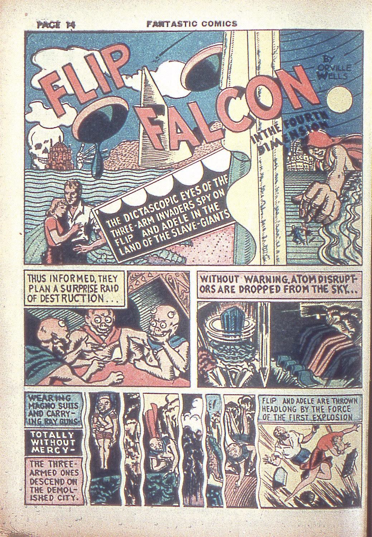 Read online Fantastic Comics comic -  Issue #4 - 16