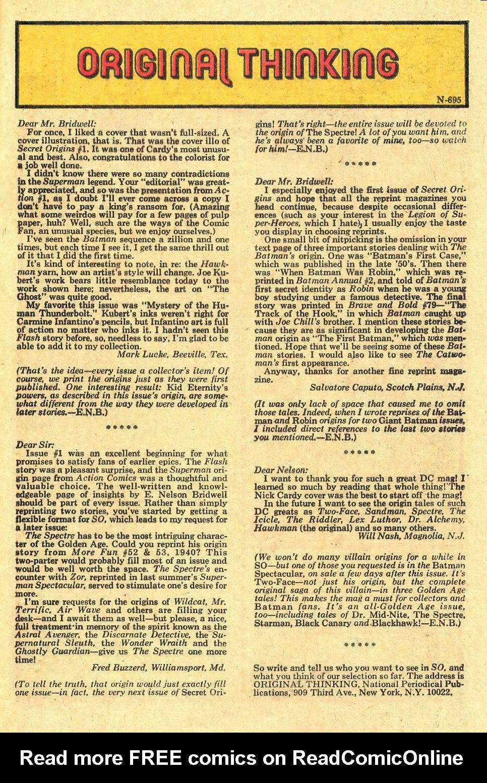 Read online Secret Origins (1973) comic -  Issue #4 - 33