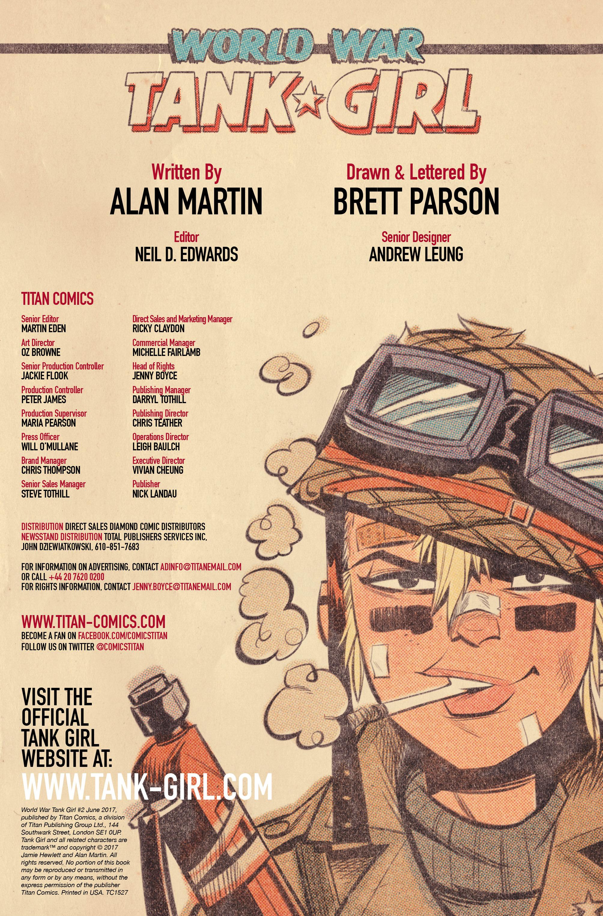 Read online Tank Girl: World War Tank Girl comic -  Issue #2 - 2
