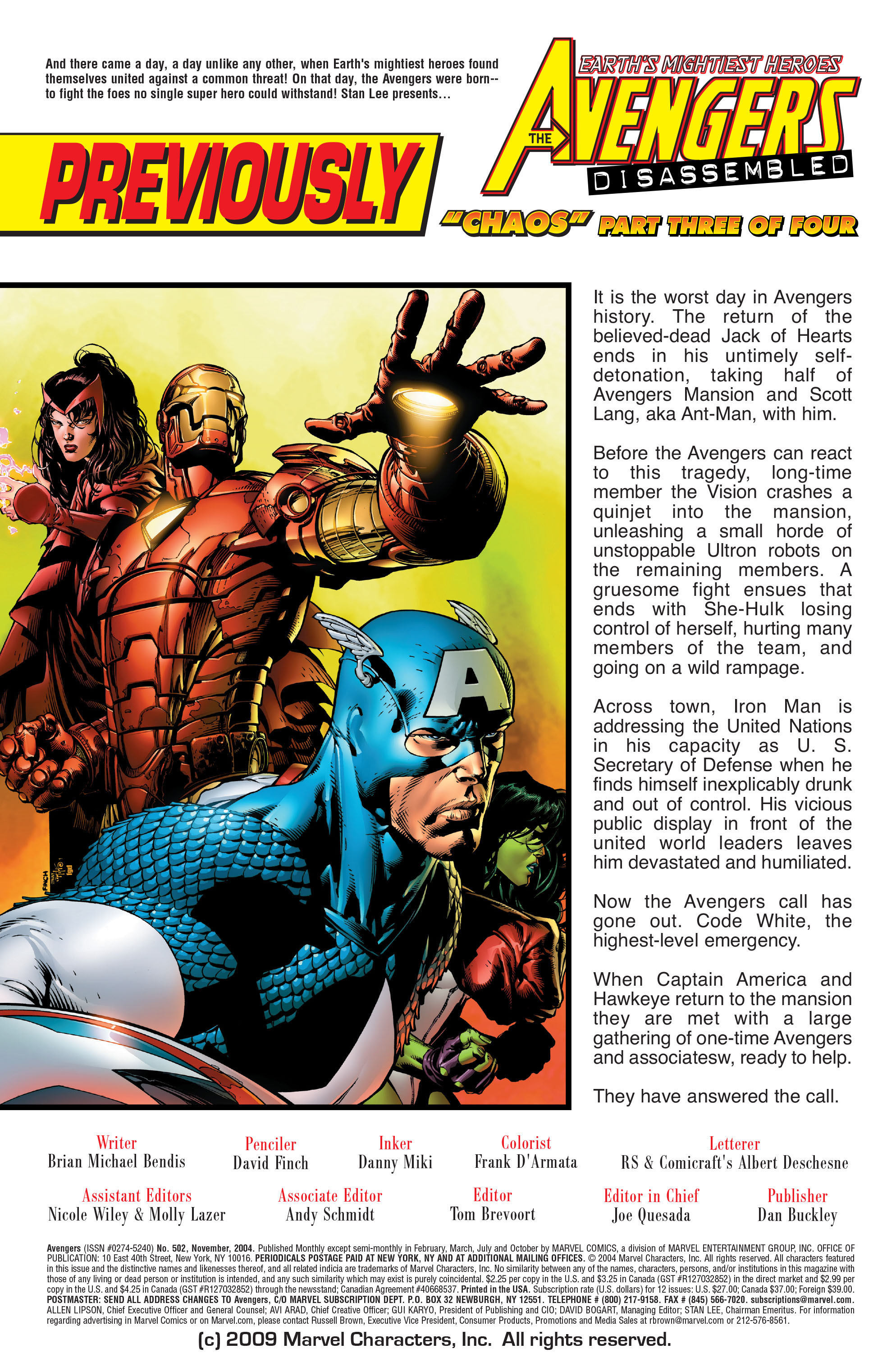 Read online Avengers (1998) comic -  Issue #502 - 2