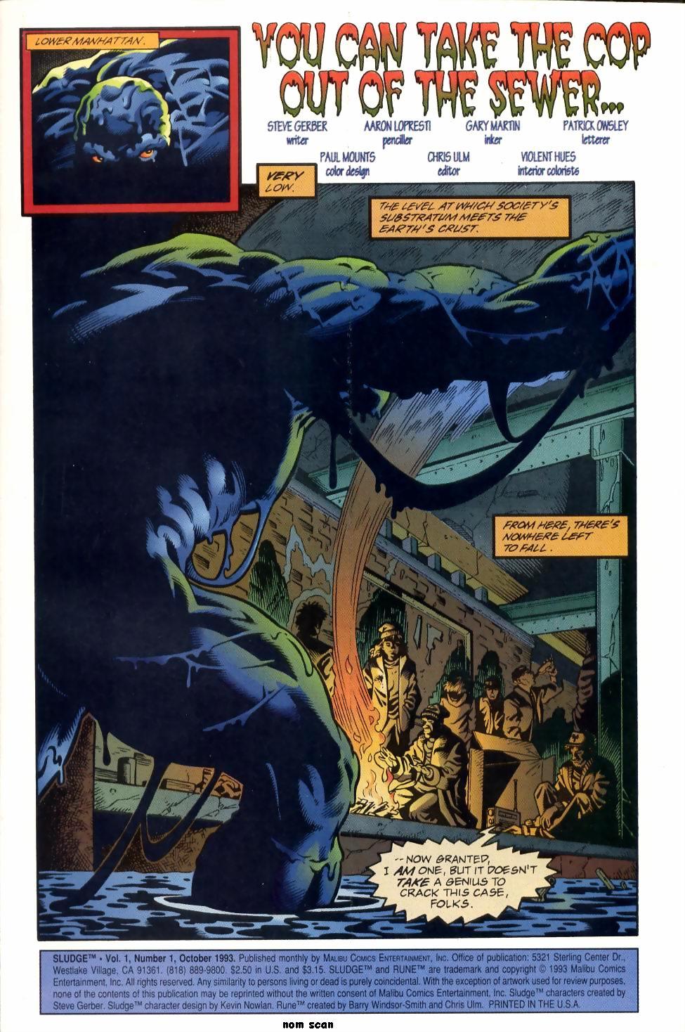 Read online Sludge comic -  Issue #1 - 2