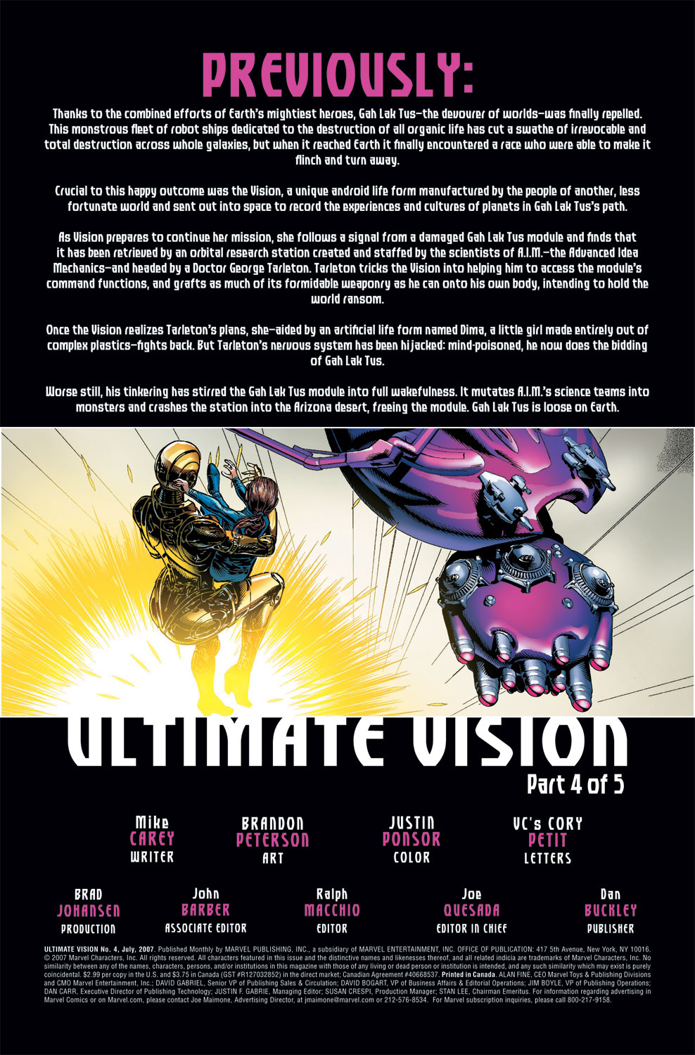 Read online Ultimate Vision comic -  Issue #4 - 3
