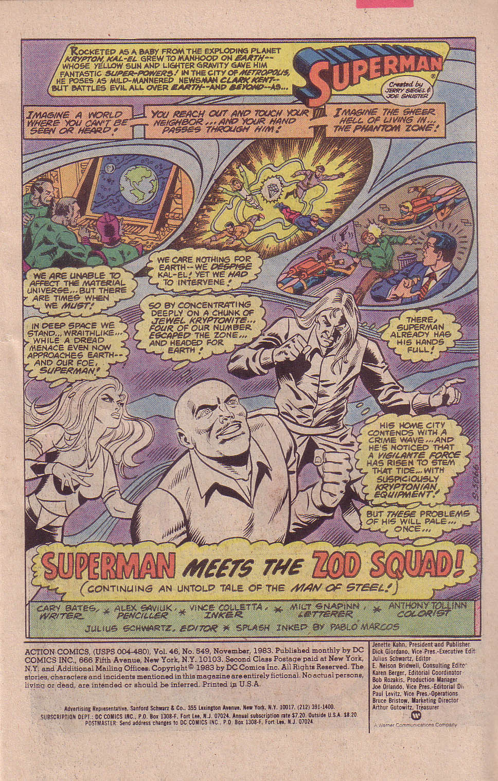 Action Comics (1938) 549 Page 1