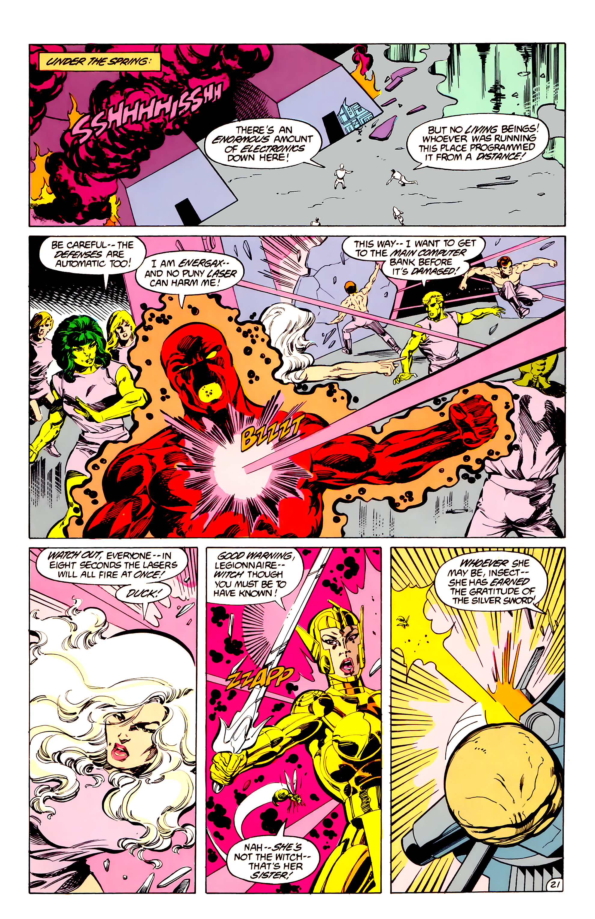 Legion of Super-Heroes (1984) 33 Page 21