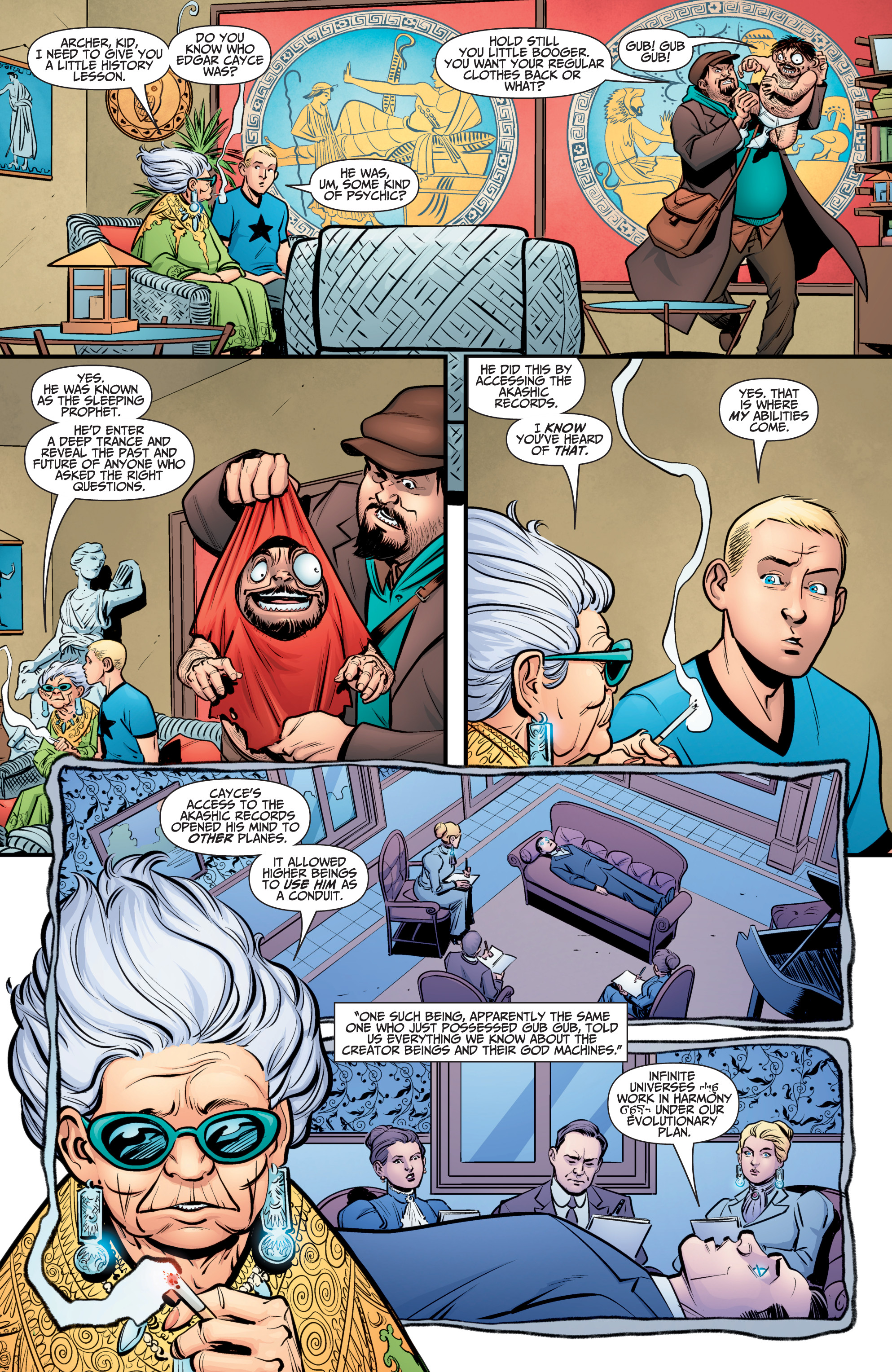 Read online A&A: The Adventures of Archer & Armstrong comic -  Issue #10 - 11