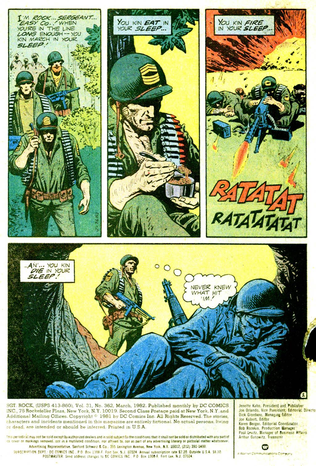 Read online Sgt. Rock comic -  Issue #362 - 3