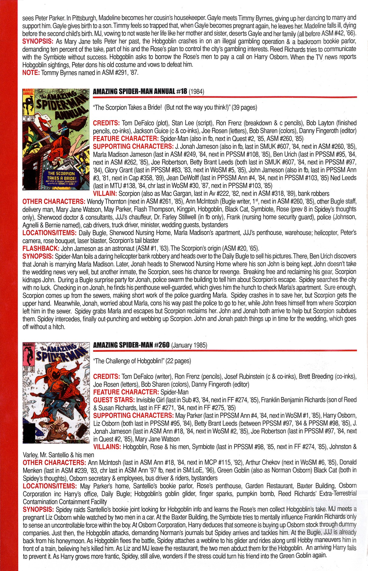 Read online Official Index to the Marvel Universe comic -  Issue #6 - 10