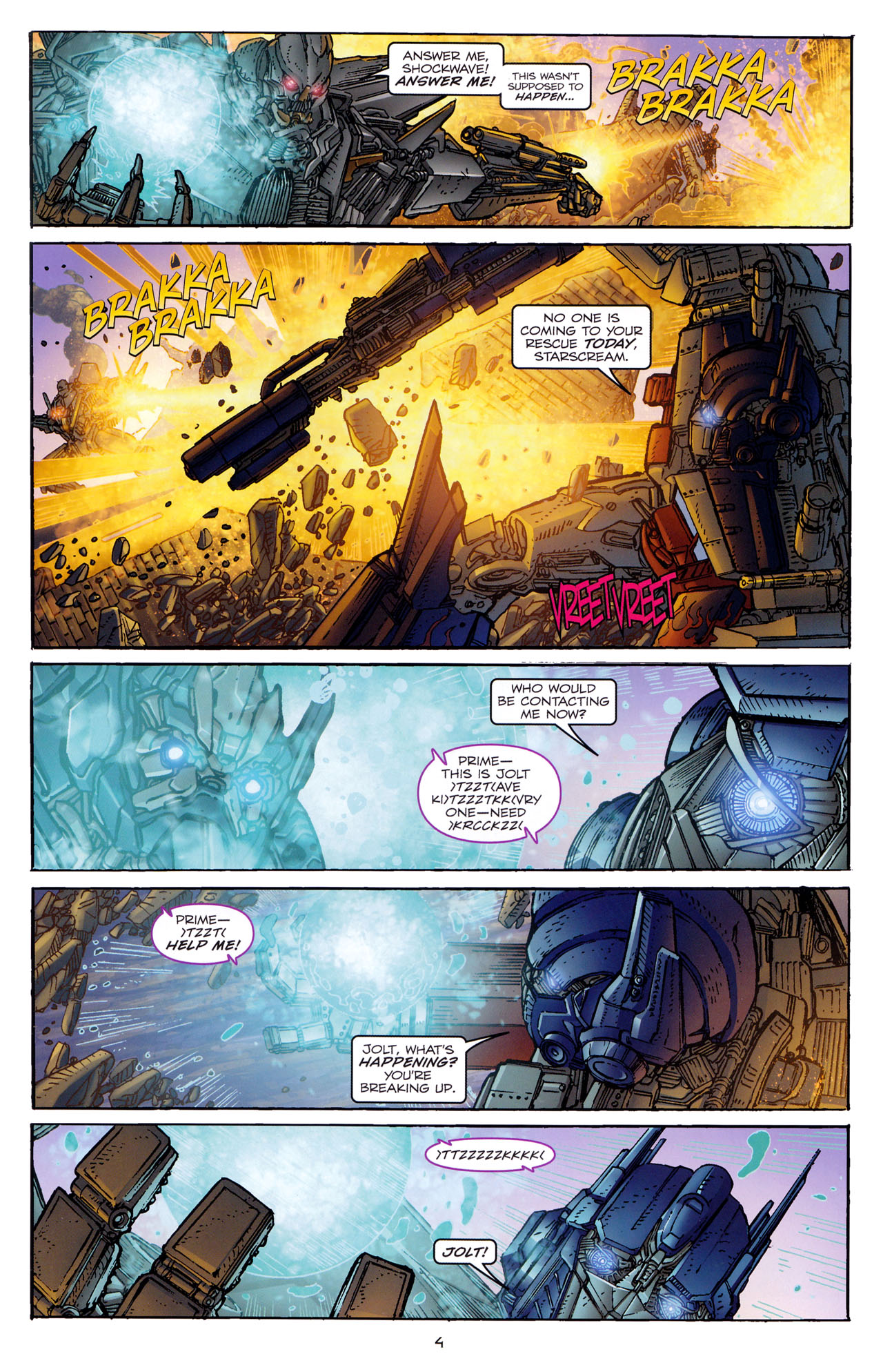 Read online Transformers: Dark of the Moon Rising Storm comic -  Issue #4 - 5
