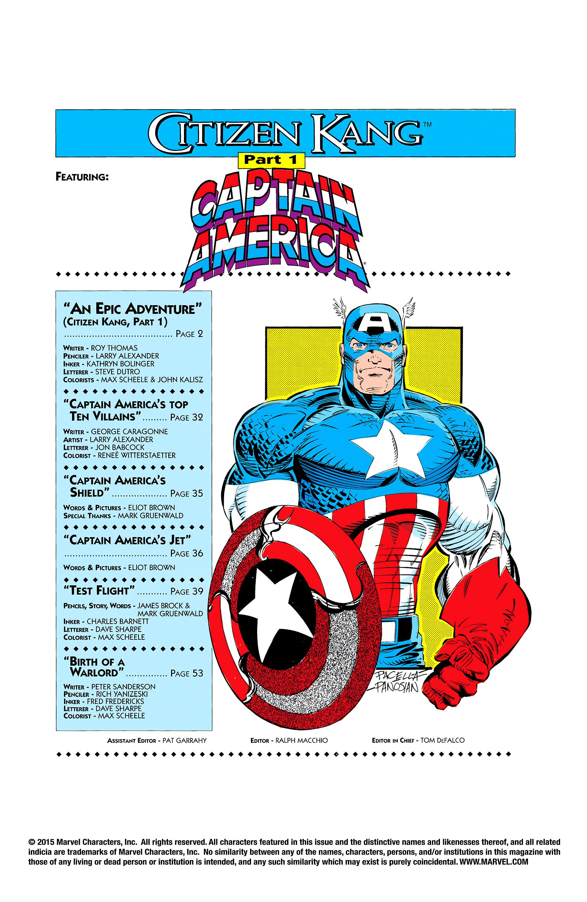 Read online Captain America (1968) comic -  Issue # _Annual 11 - 2