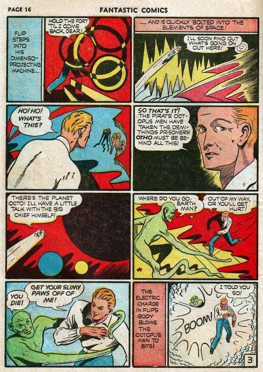 Read online Fantastic Comics comic -  Issue #17 - 18