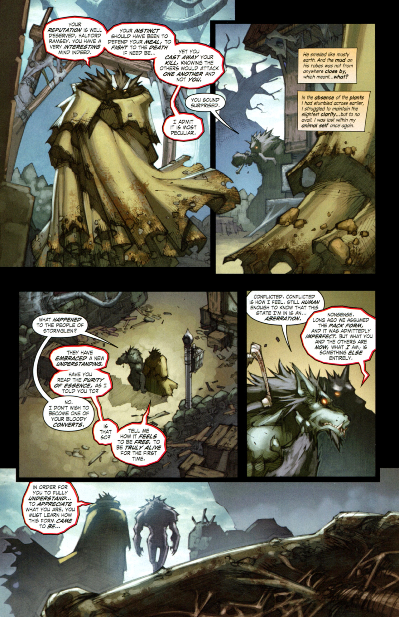 Read online World of Warcraft: Curse of the Worgen comic -  Issue #3 - 7